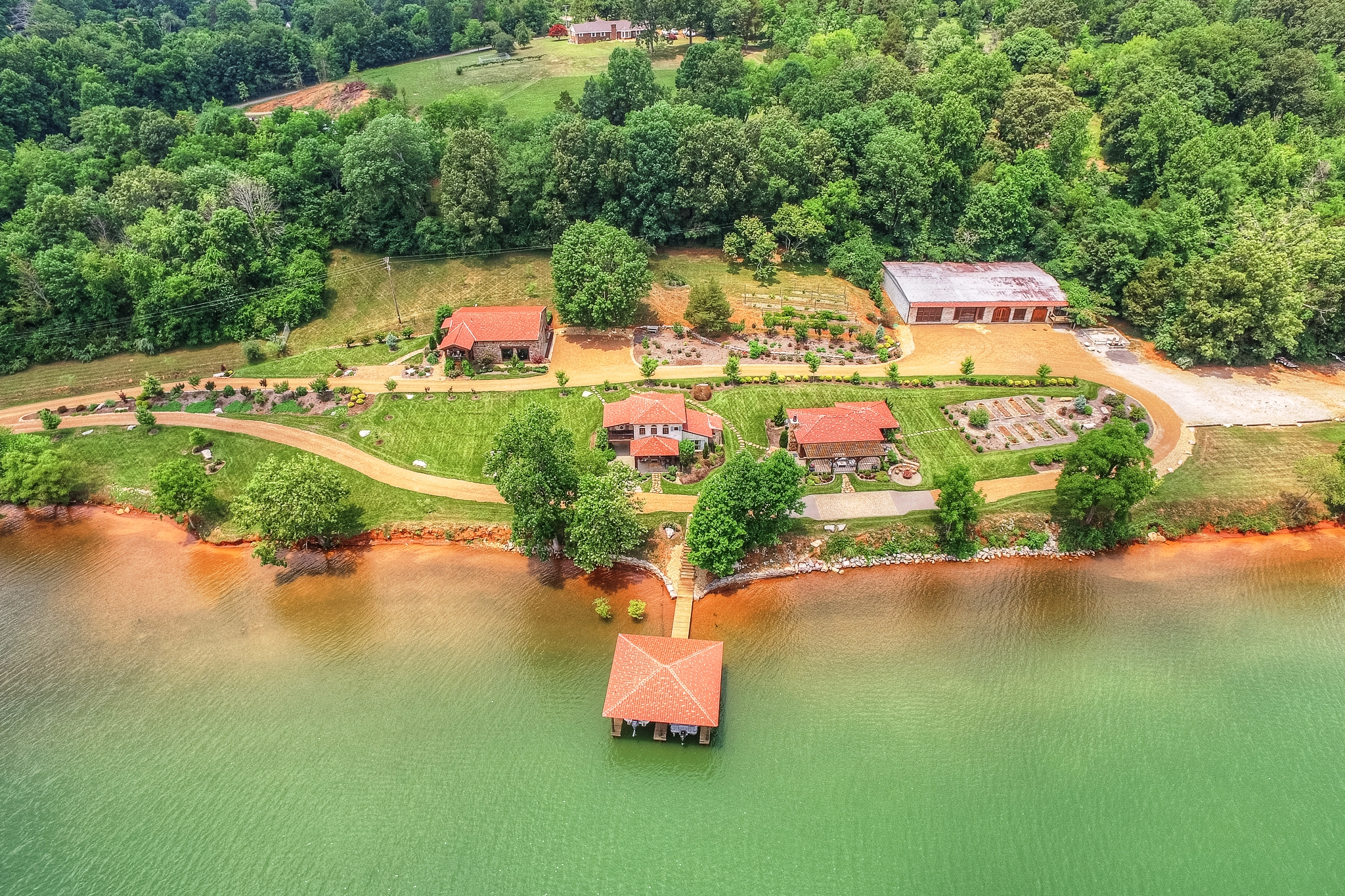 sales property at Bella Riva Lakefront Home on Four Acres