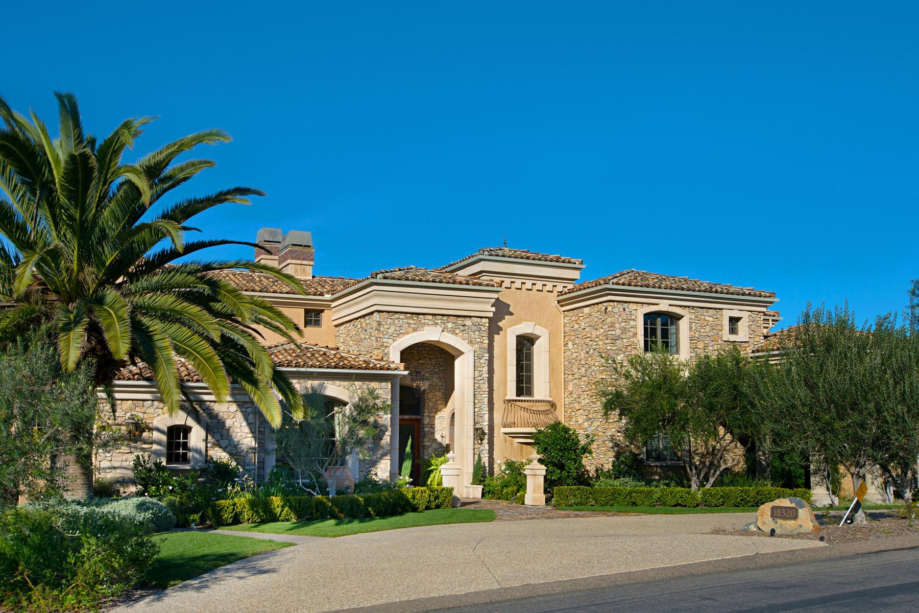 Casa Unifamiliar por un Venta en 18320 Via Ambiente Rancho Santa Fe, California, 92067 Estados Unidos