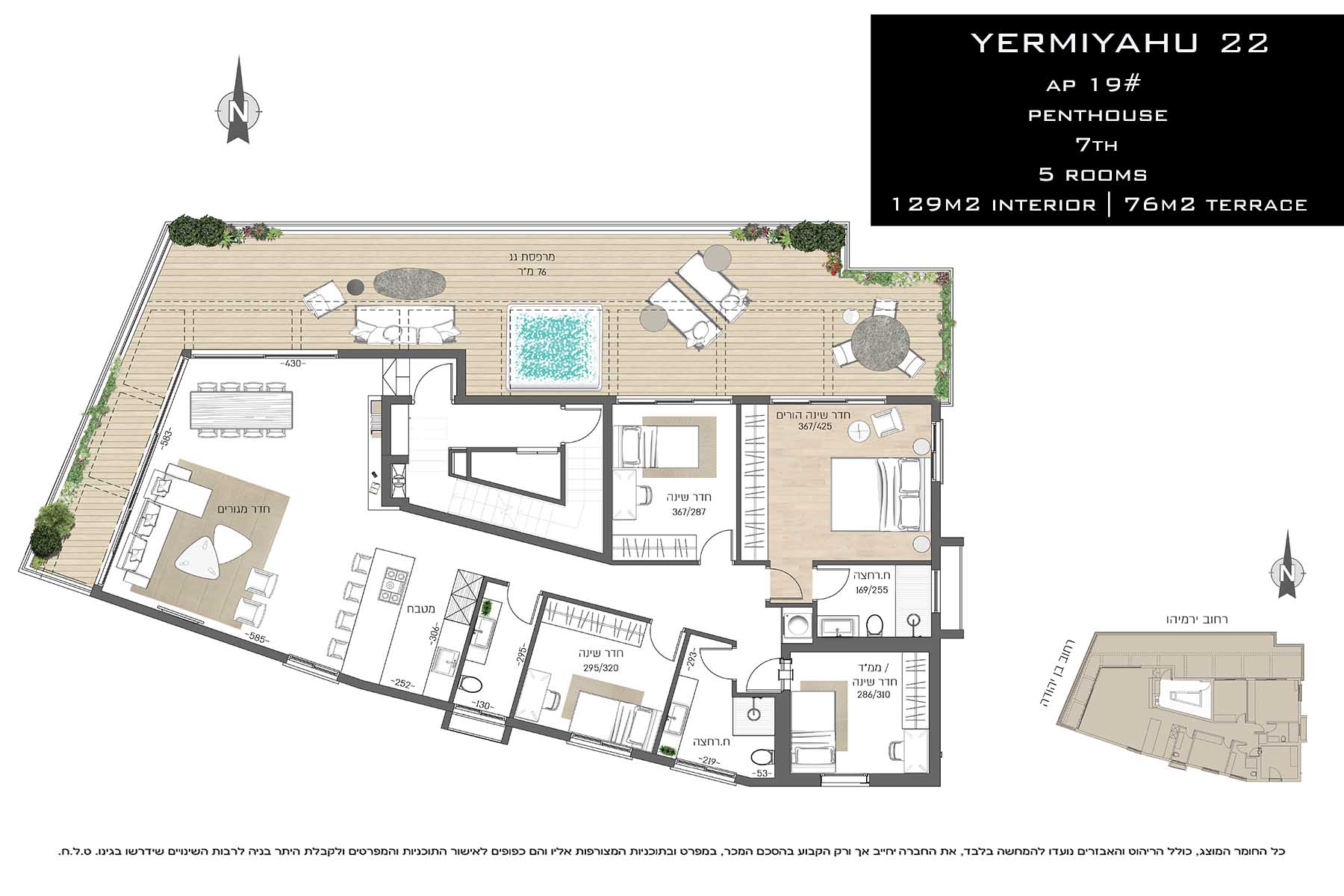 Appartement pour l Vente à Exclusive New Penthouse near Ha'Yarkon Park Tel Aviv, Israel Israël