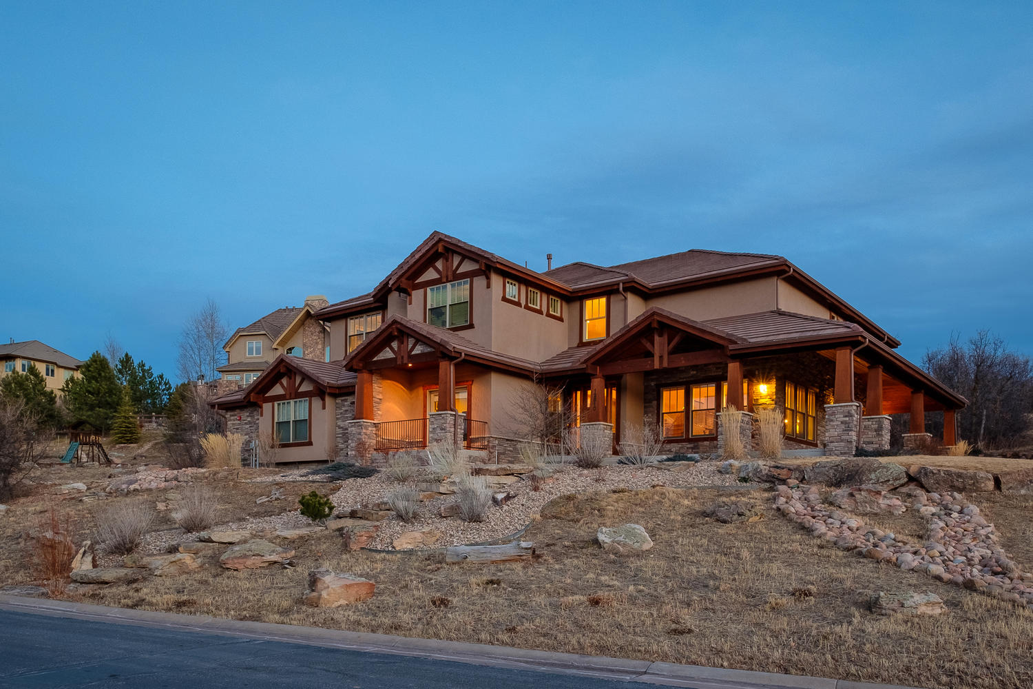 Single Family Home for Active at Whisper Canyon 12810 Horizon Trail Castle Pines, Colorado 80108 United States