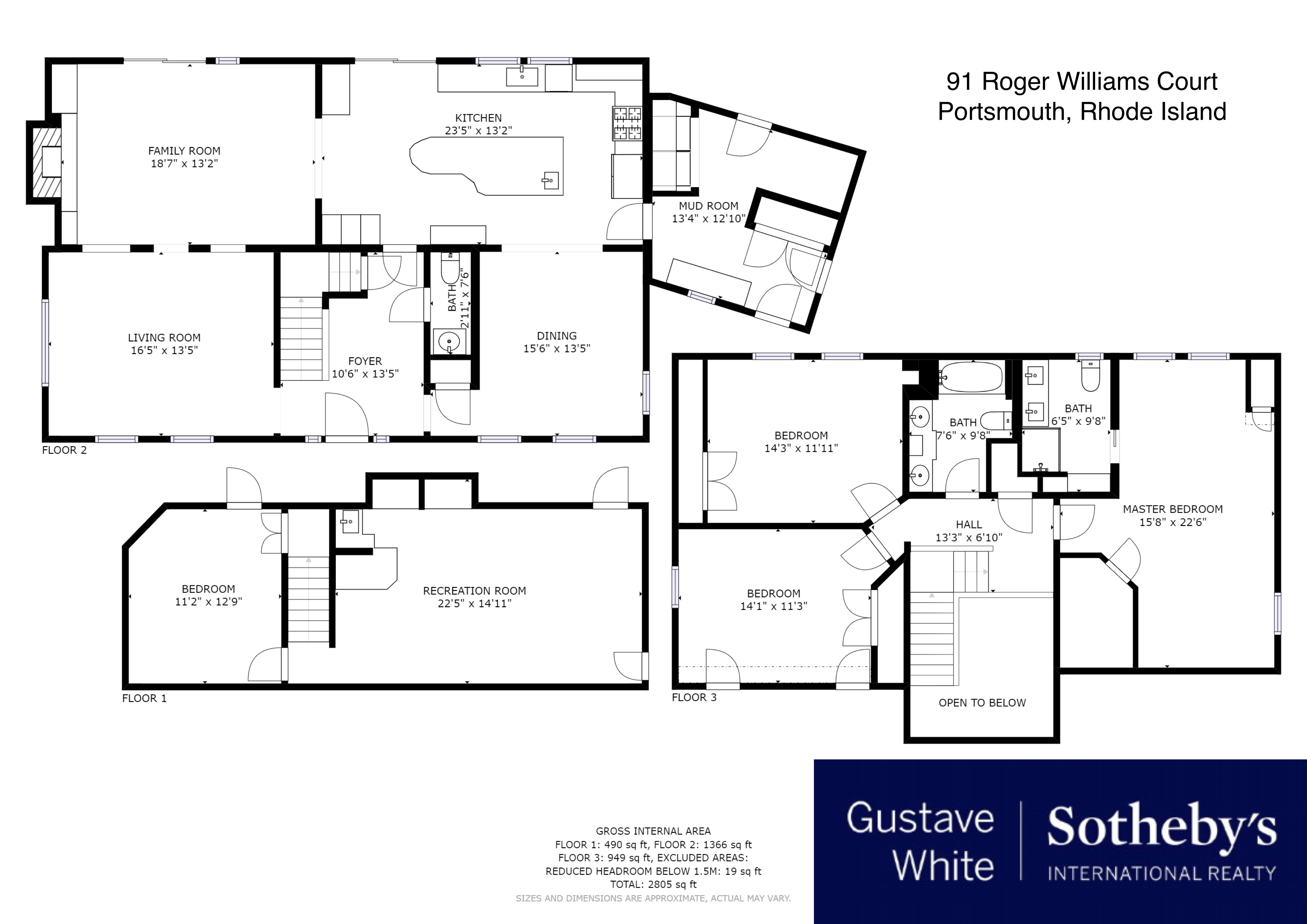 Single Family Homes for Sale at Modern Cape with Water Views 91 Roger Williams Court Portsmouth, Rhode Island 02871 United States