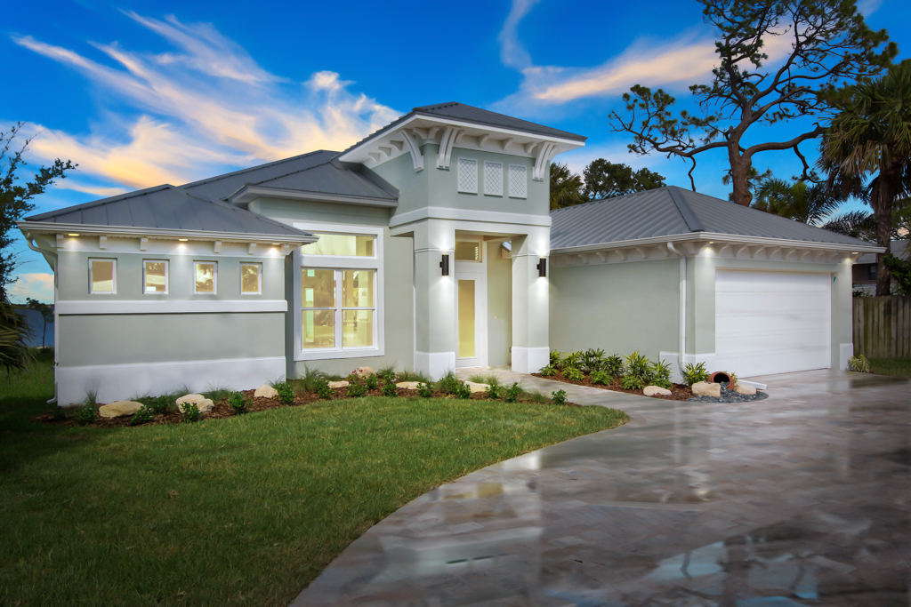 Single Family Home for Sale at Brand New Riverfront Home 2345 Pineapple Ave Melbourne, Florida 32935 United States