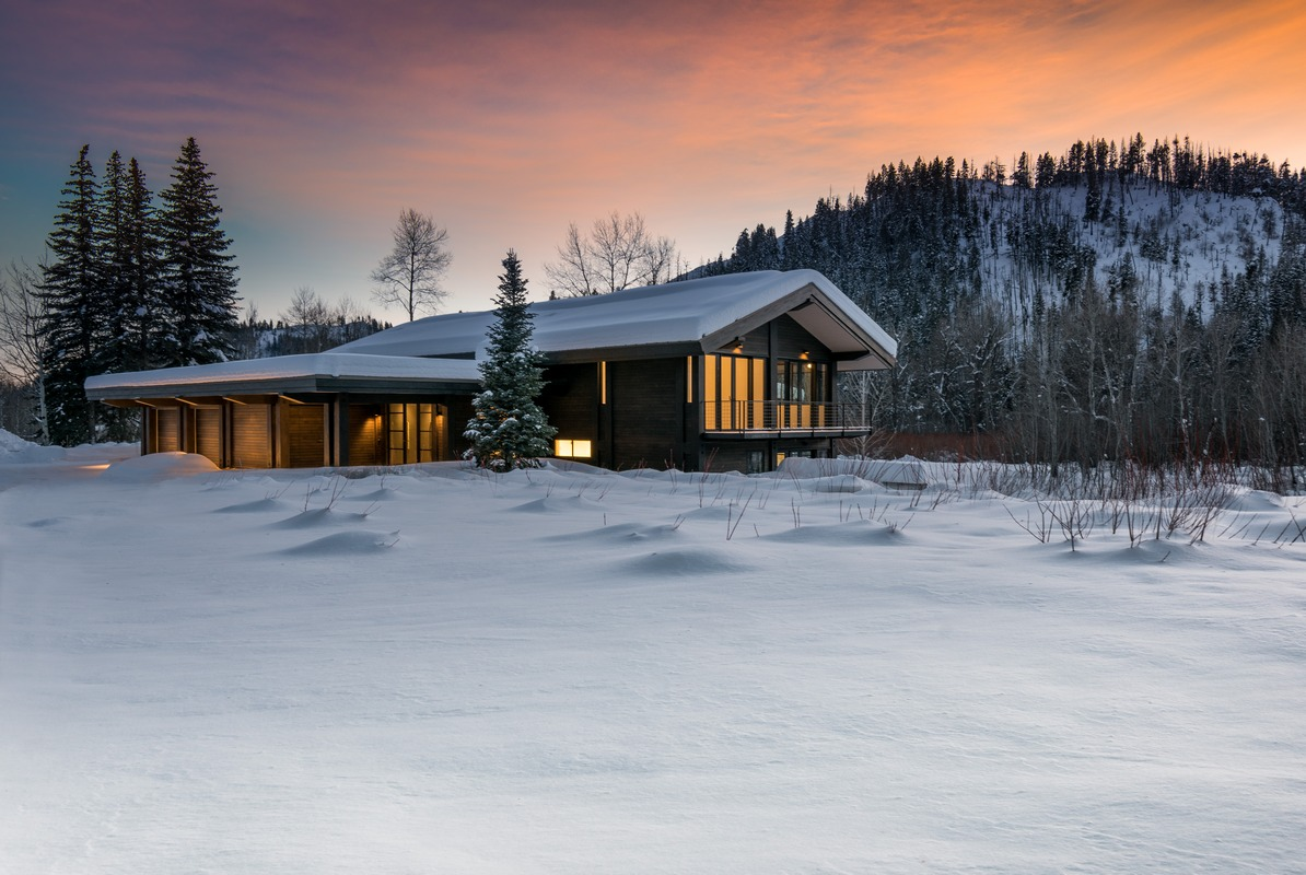 Single Family Home for Sale at Reclaimed Contemporary 13402 State Highway 75 Ketchum, Idaho 83340 United States