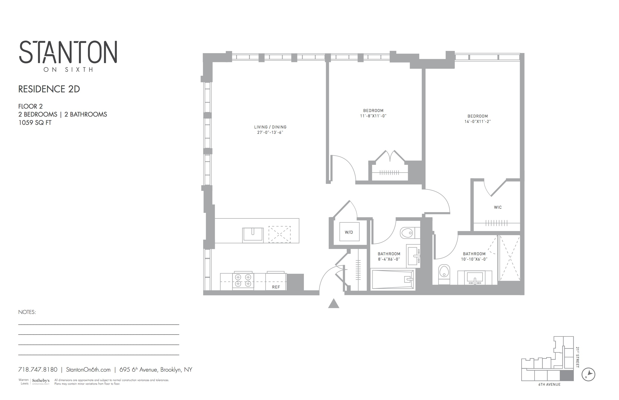Condominium for Sale at Stanton on Sixth 695 6th Avenue 2D Brooklyn, New York 11215 United States