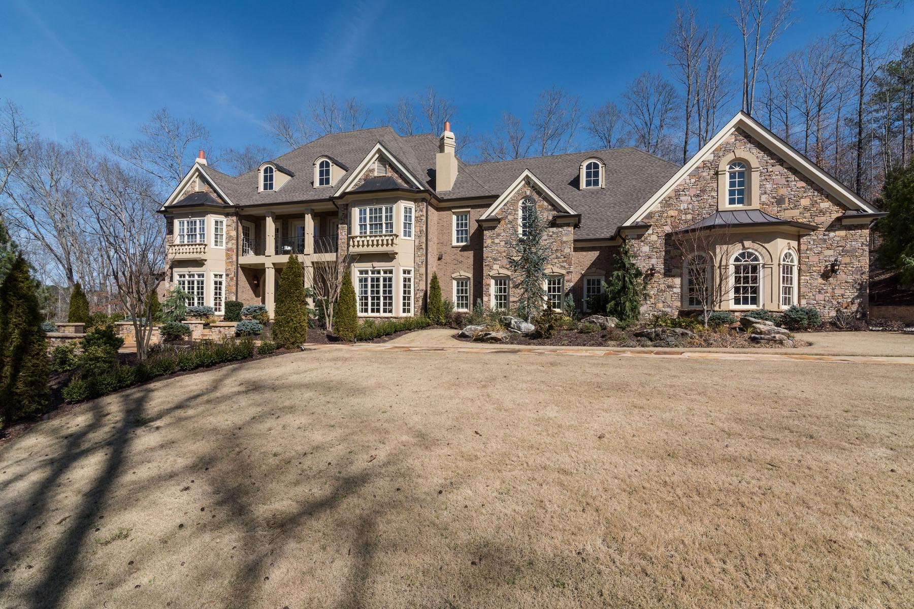Single Family Home for Sale at Absolutely stunning custom European-inspired estate 190 Allmond Lane Alpharetta, Georgia, 30004 United States