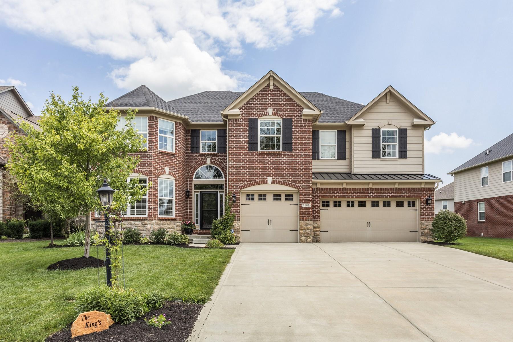 Частный односемейный дом для того Продажа на Beautiful Home 2807 Newbury Court Zionsville, Индиана, 46077 Соединенные Штаты