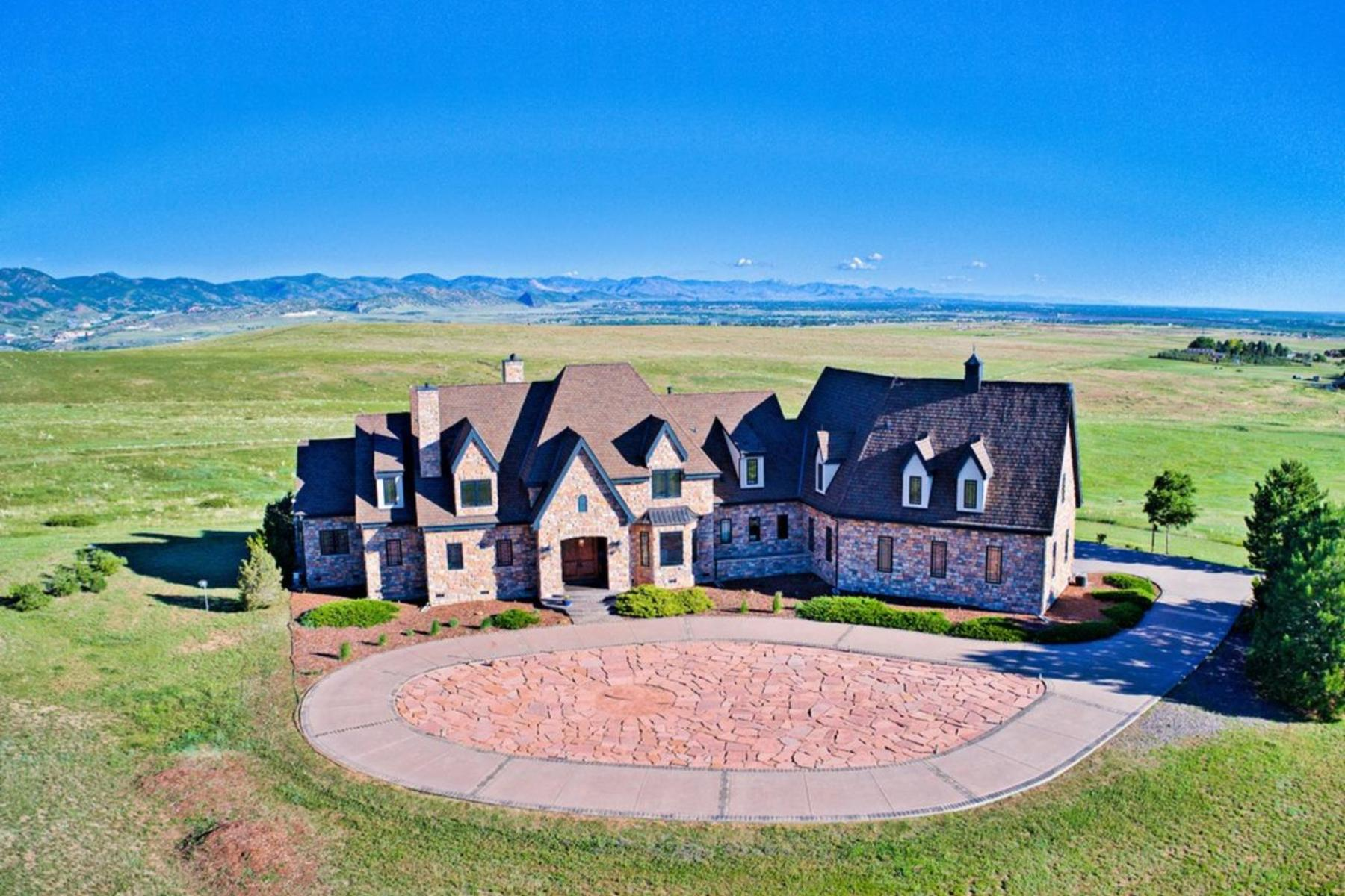 Single Family Home for Active at 360 Degree Mesmerizing Views of the Front Range, Mountains & City 7755 North Moore Road Littleton, Colorado 80125 United States