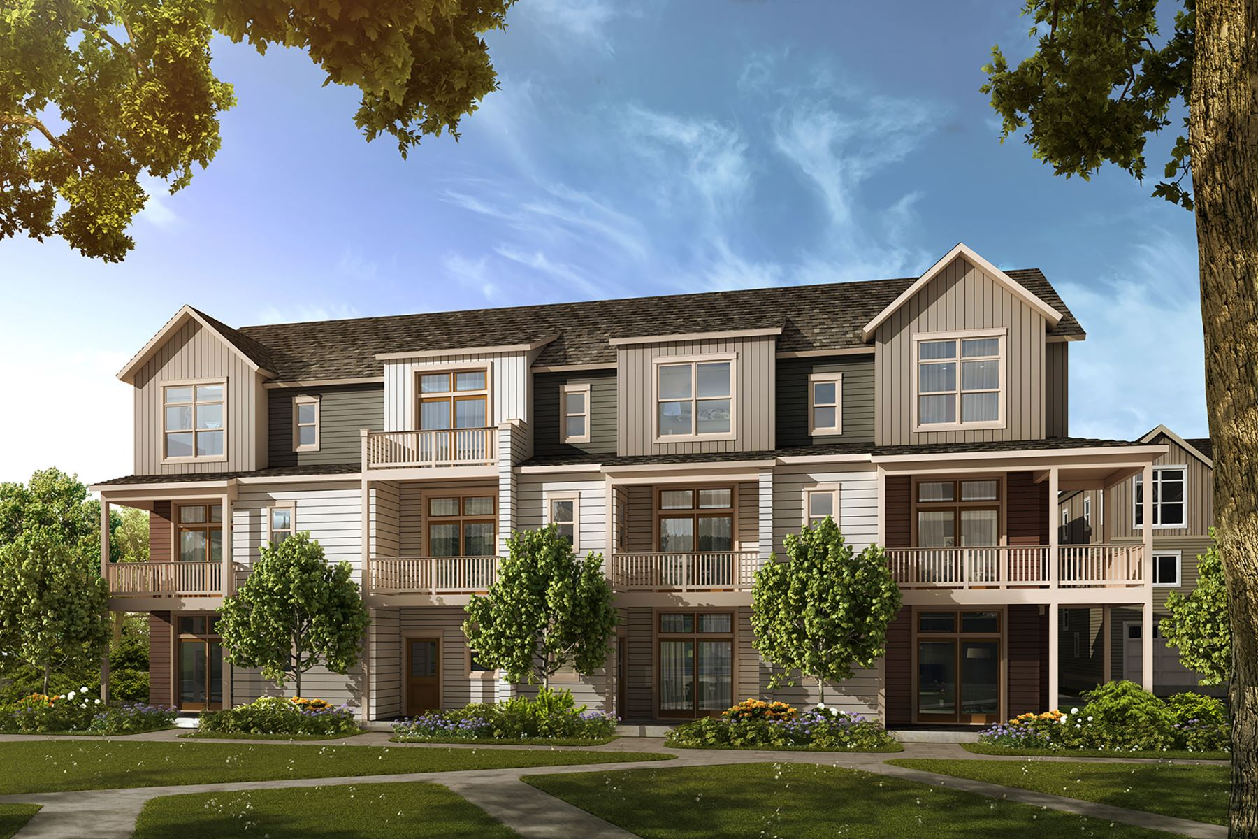 Townhouse for Active at Rose Townhome in Iron Works Village 532 Amherst Avenue #Rose Bldg. 10 Englewood, Colorado 80110 United States