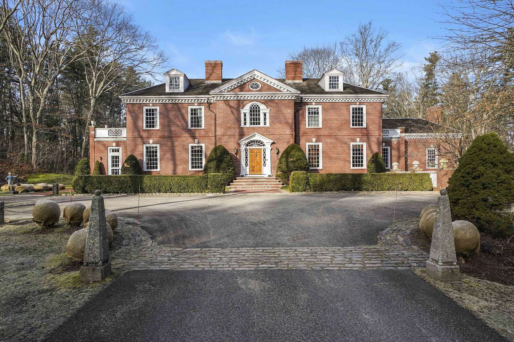 Single Family Homes for Sale at Impressive Custom Built Georgian Style Colonial 25 Smith Street Dover, Massachusetts 02030 United States