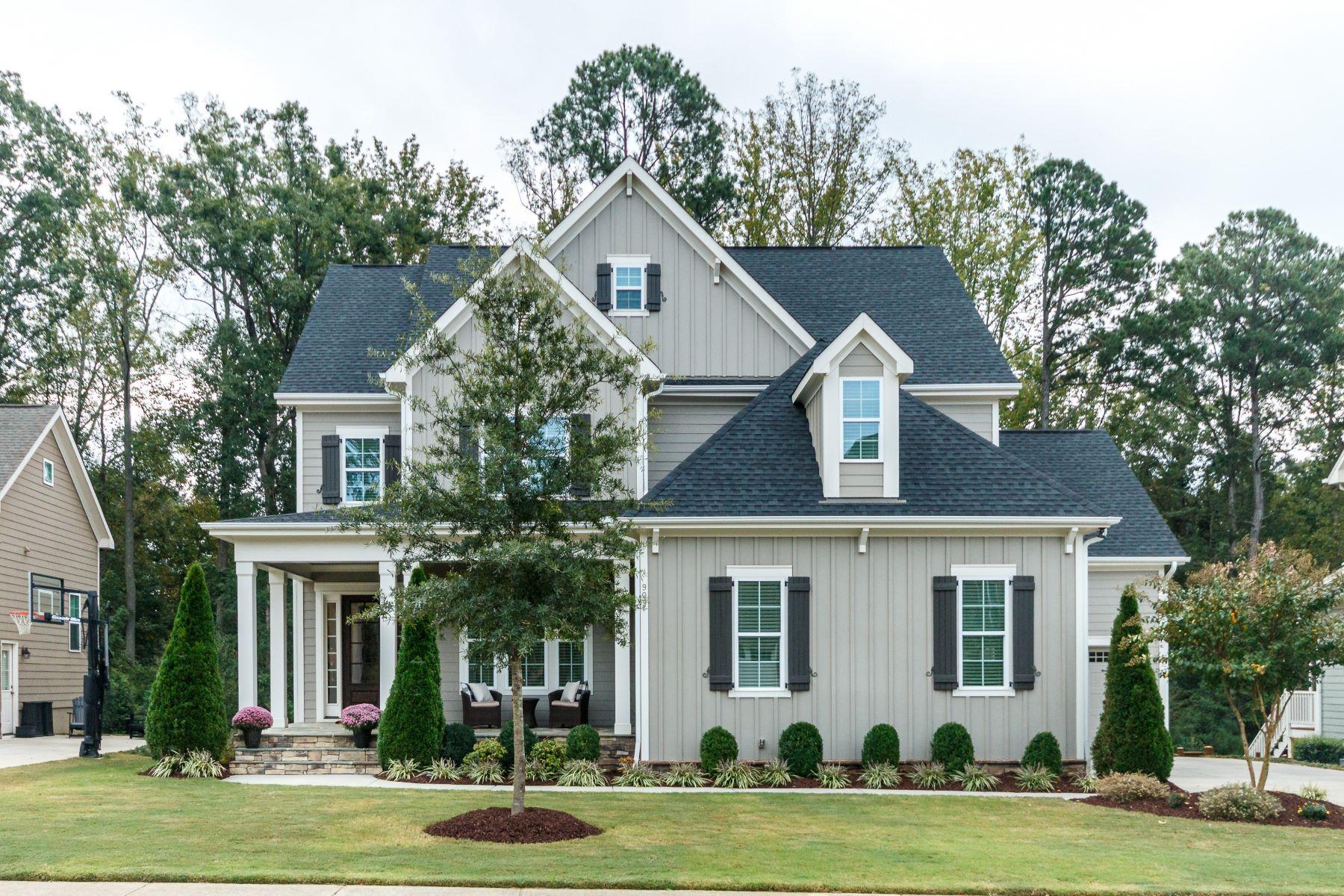 Single Family Homes for Sale at Custom Craftsman in Churchill Estates 909 Cambridge Hall Loop Apex, North Carolina 27539 United States