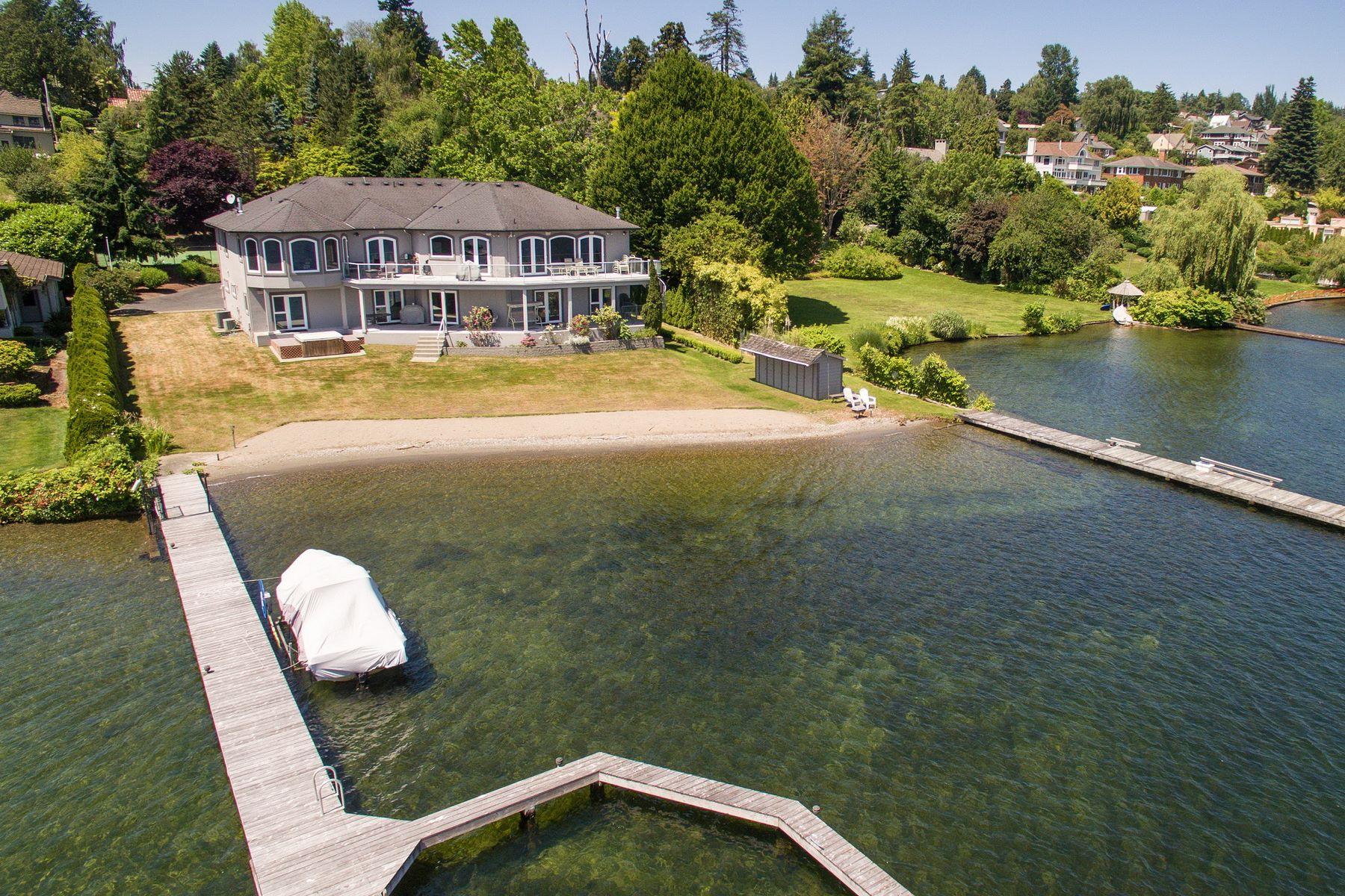 一戸建て のために 売買 アット Lake Washington Waterfront 7016 55th Ave S Seward Park, Seattle, ワシントン, 98118 アメリカ合衆国