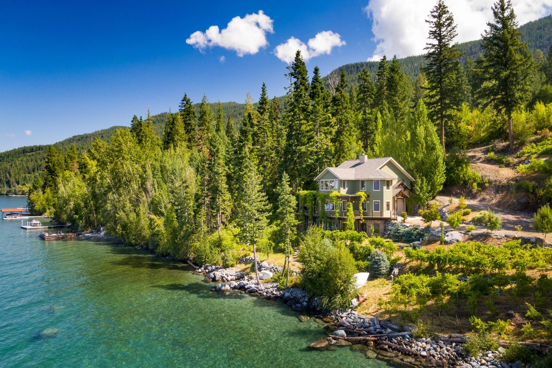 Single Family Homes por un Venta en Eastshore Flathead Lake Frontage 19571 Mt Highway 35 Bigfork, Montana 59911 Estados Unidos