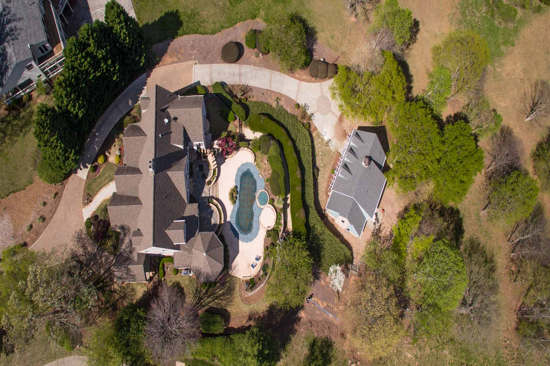 Single Family Home for Sale at Private Retreat With Guest Cottage And Pool 10697 Bell Road Duluth, Georgia, 30097 United States