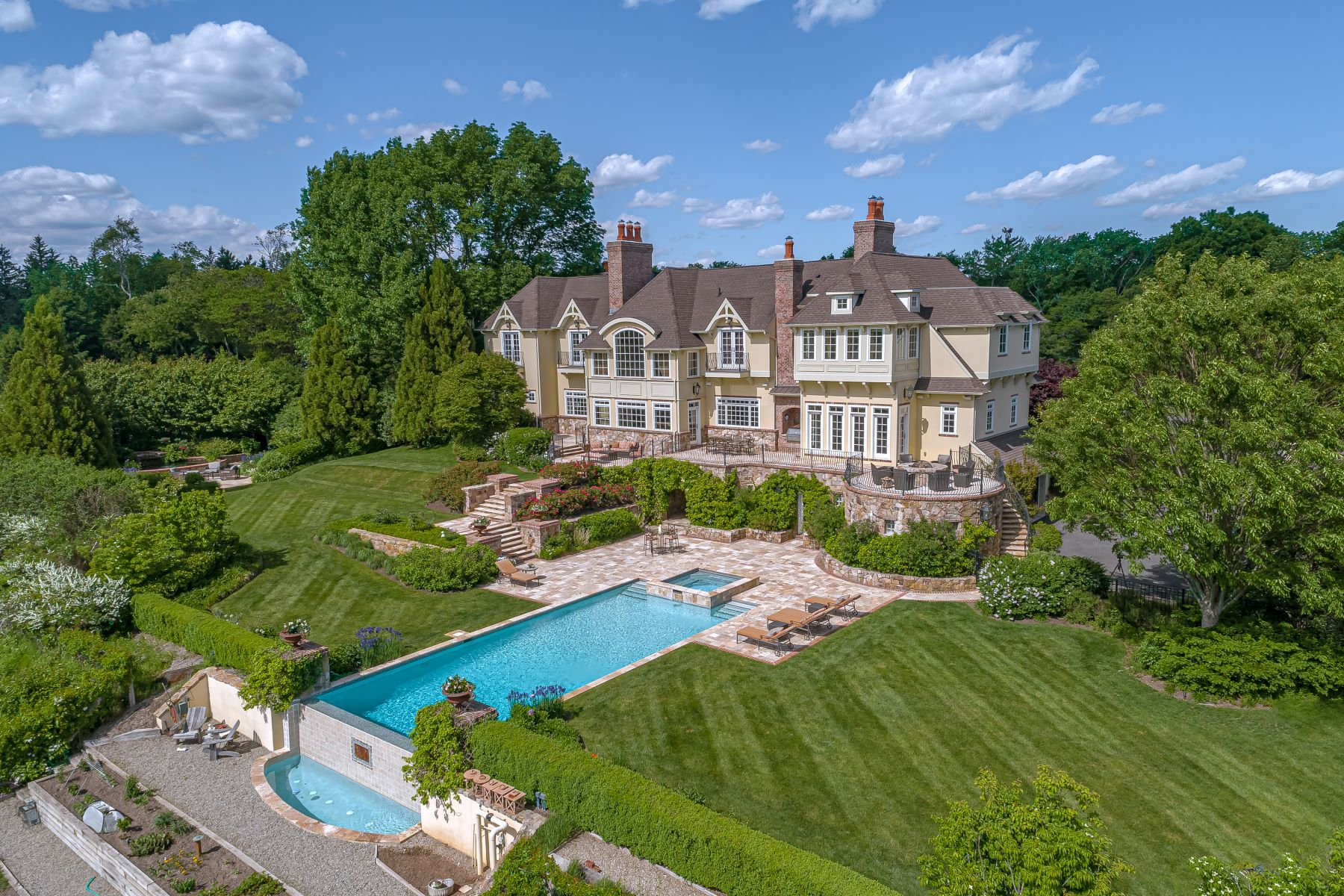 Single Family Homes for Sale at European Inspiration Balanced With American Elegance 23 Corey Lane, Mendham, New Jersey 07945 United States