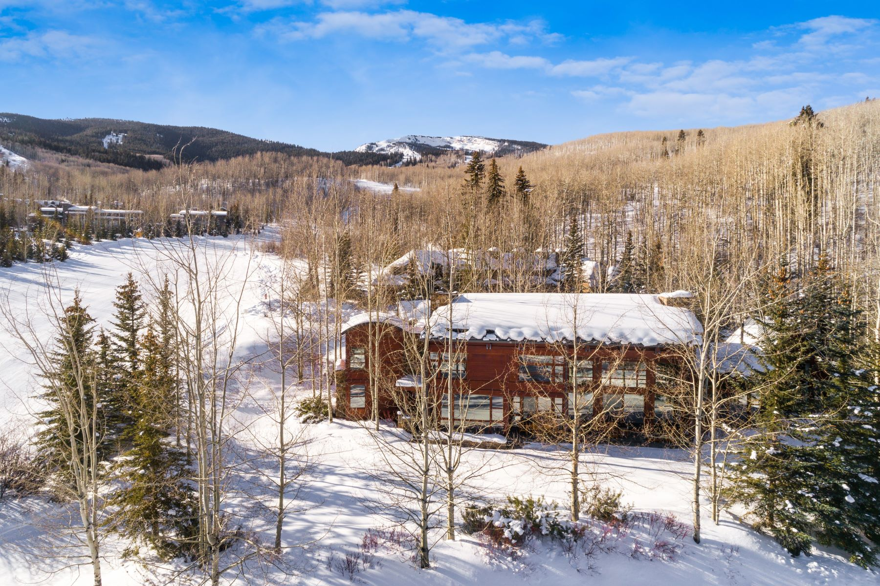 Single Family Homes pour l Vente à Contemporary Two Creeks Ski Retreat 204 Blue Spruce Lane, Snowmass Village, Colorado 81615 États-Unis