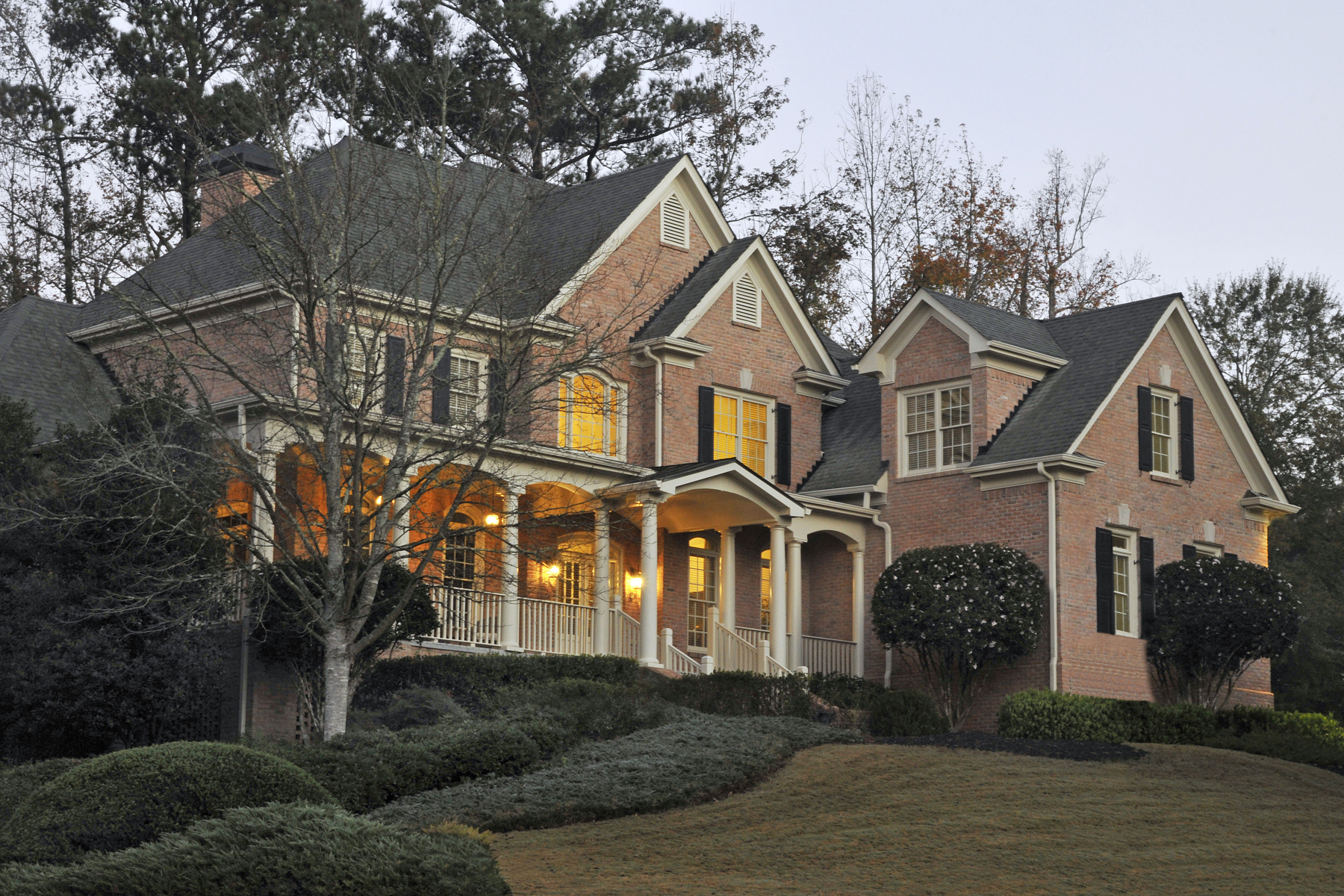 Stately Brick Estate with Wrap Around Front Porch 200 Ruffed Grouse Way Johns Creek, Georgia 30097 United States