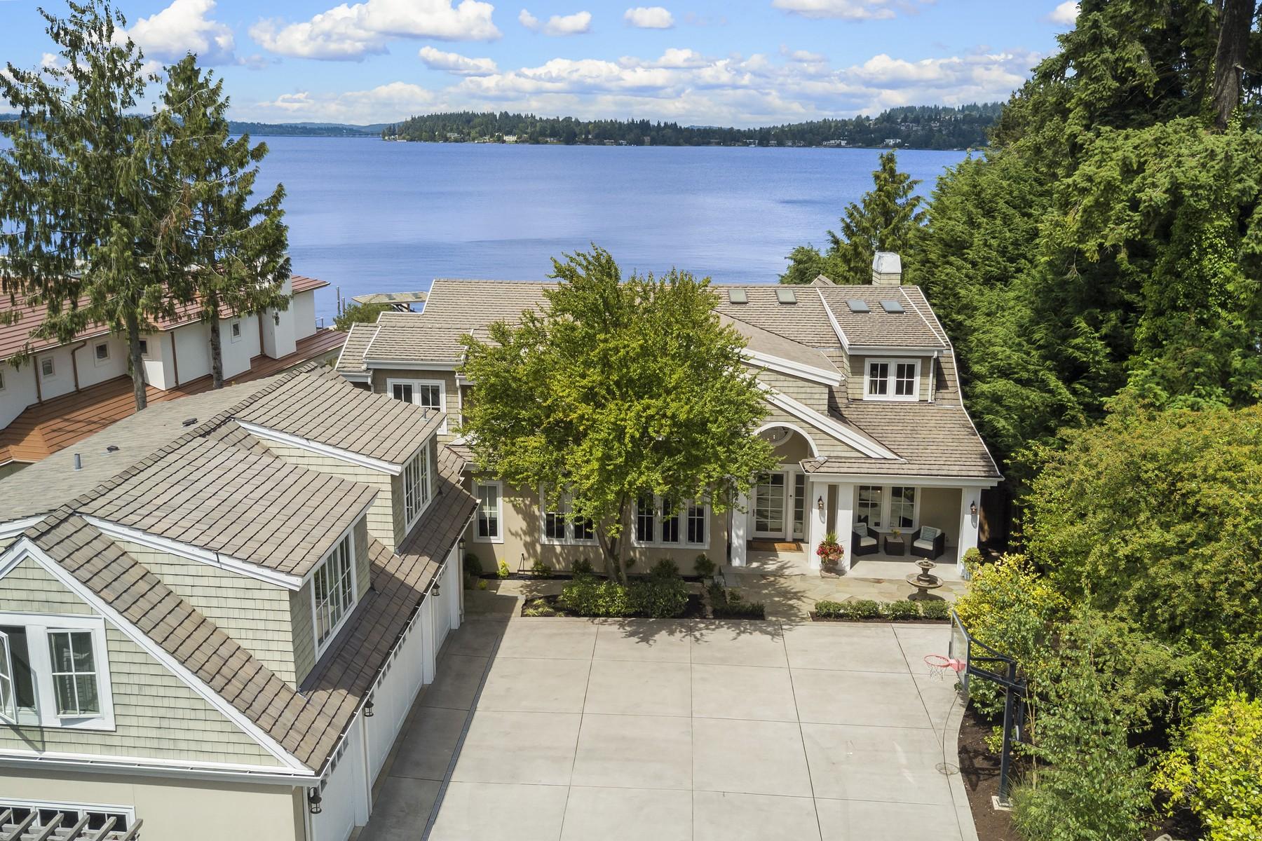 Single Family Home for Sale at Luxury on the Lake 7450 N Mercer Wy Mercer Island, Washington 98040 United States