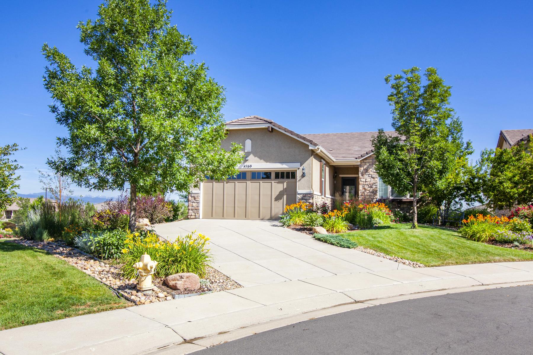 Single Family Homes for Sale at Panoramic Mountain Views 4769 Kismet Pl, Broomfield, Colorado 80023 United States
