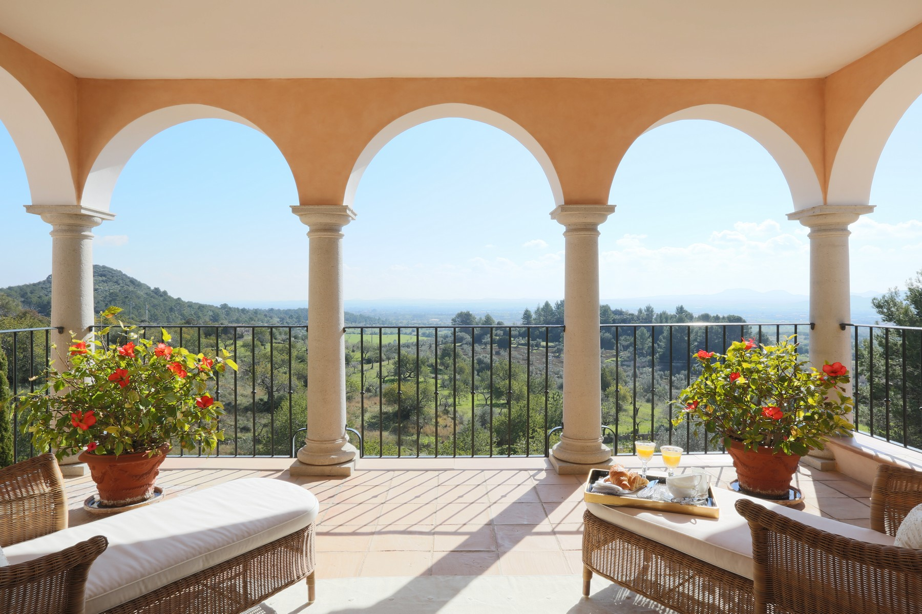Single Family Home for Rent at Country Estate with stone façade and view in Alaró Alaro, Mallorca, Spain