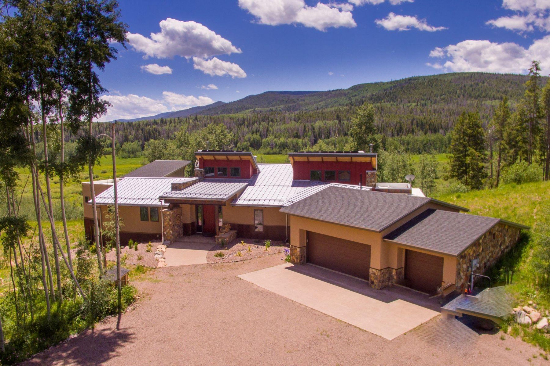 Single Family Homes for Sale at Greenridge Ranch Contemporary Home 20850 Cheyenne Trl Oak Creek, Colorado 80467 United States