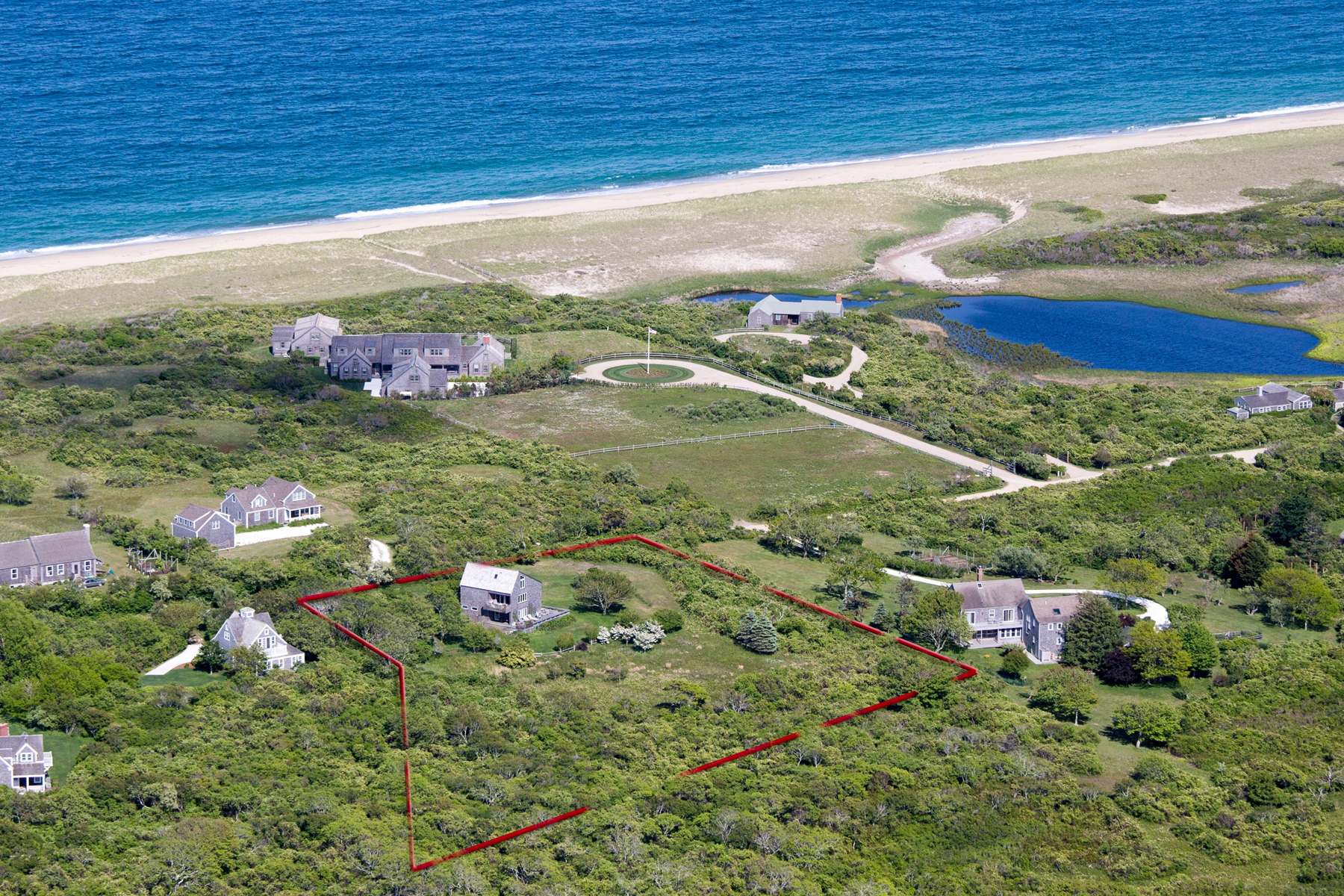 단독 가정 주택 용 매매 에 Gorgeous Unobstructed Water Views! 56 Squam Road 58 Squam Road Nantucket, 매사추세츠, 02554 미국