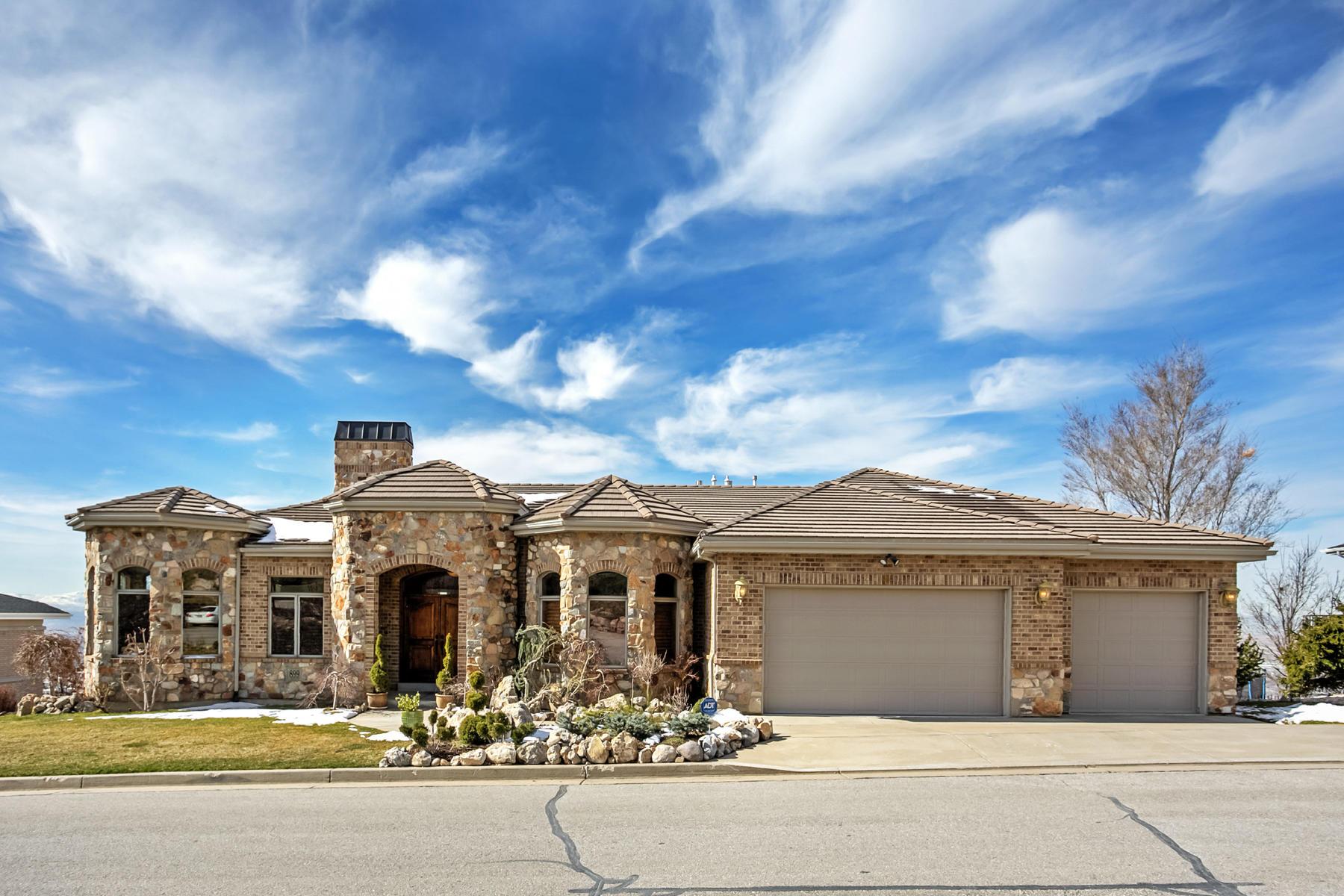 Nhà ở một gia đình vì Bán tại Custom Designed Home with Sweeping Views 899 N Sandhurst Dr Salt Lake City, Utah, 84103 Hoa Kỳ