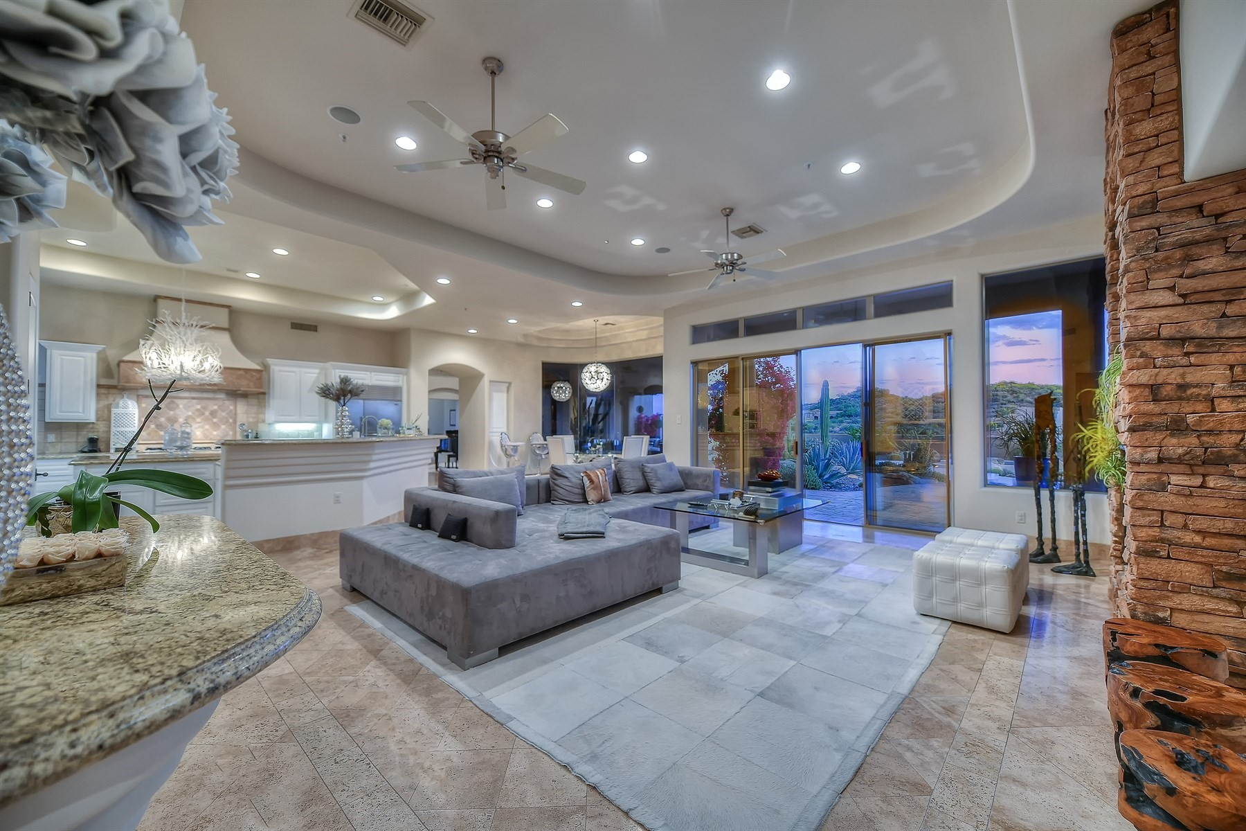Single Family Home for Sale at Exceptional transitional contemporary home in Talus 29600 N 106th Place Scottsdale, Arizona, 85262 United States