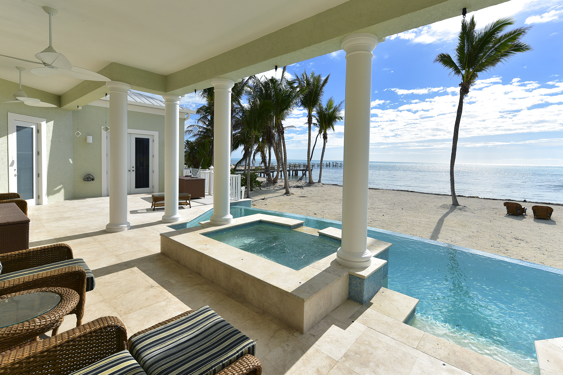Single Family Home for Sale at Exquisite Oceanfront Estate 75931 Overseas Highway Islamorada, Florida 33036 United States