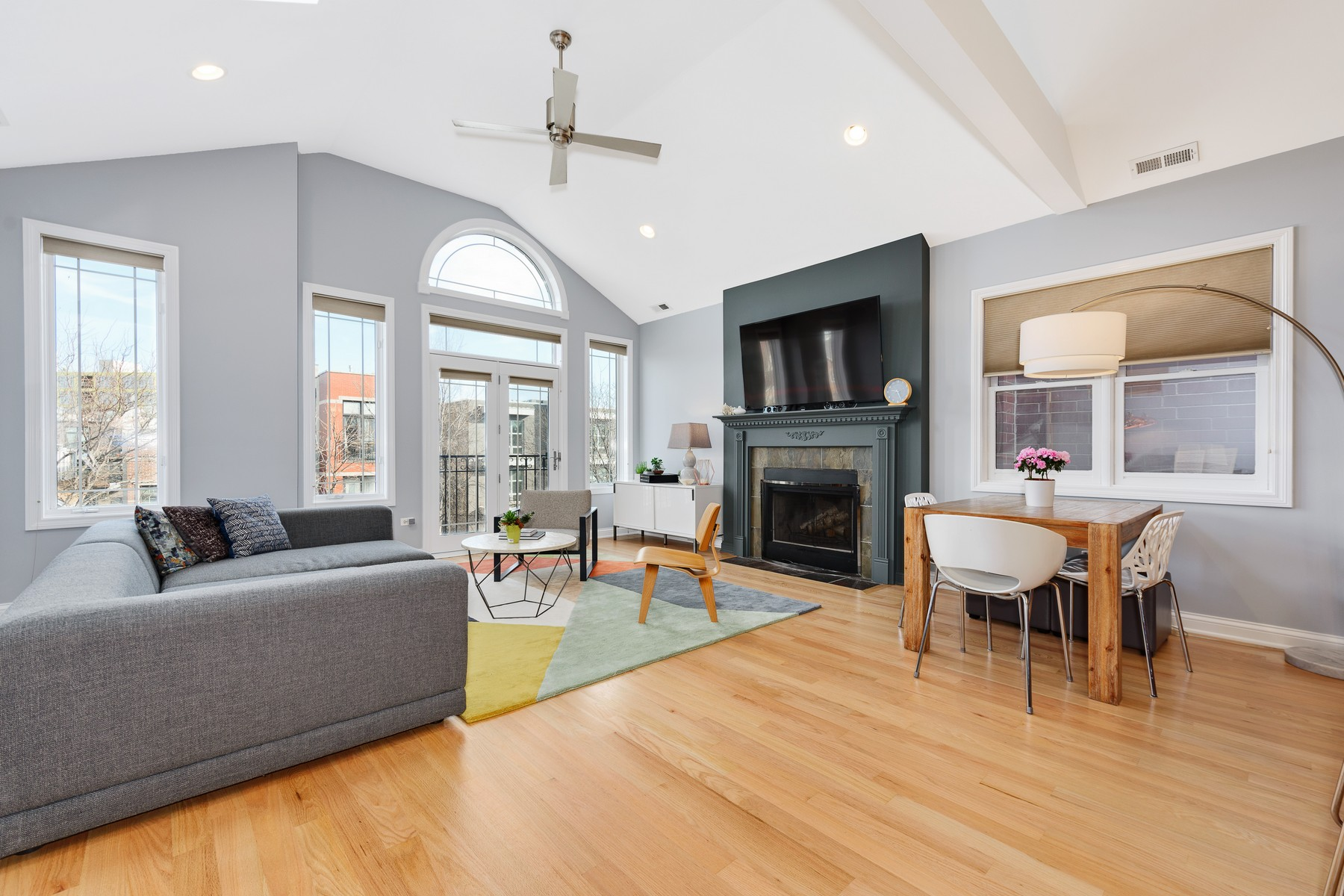 Single Family Home for Sale at Penthouse condo in all brick building in prime west Bucktown 2419 W Cortland Street Unit 3, Logan Square, Chicago, Illinois, 60647 United States
