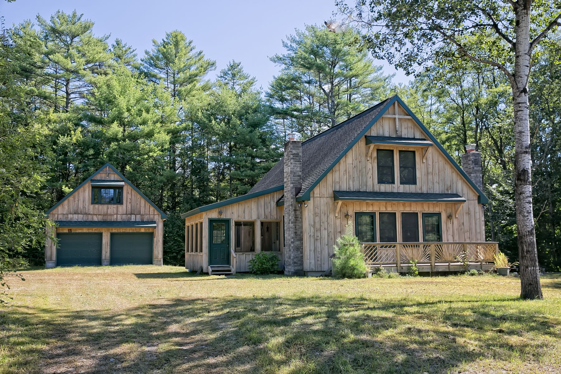 Single Family Homes for Sale at Custom Adirondack Chalet 8 Locarno St Lake Luzerne, New York 12846 United States