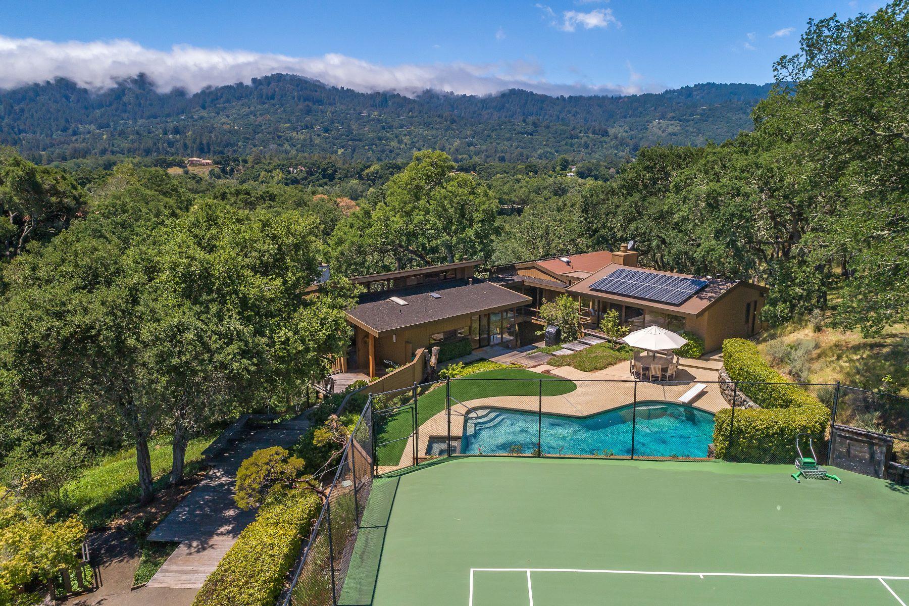 Other Residential Homes 为 销售 在 Captivating Mid-Century Modern 177 Ramoso Road 波托拉谷, 加利福尼亚州 94028 美国