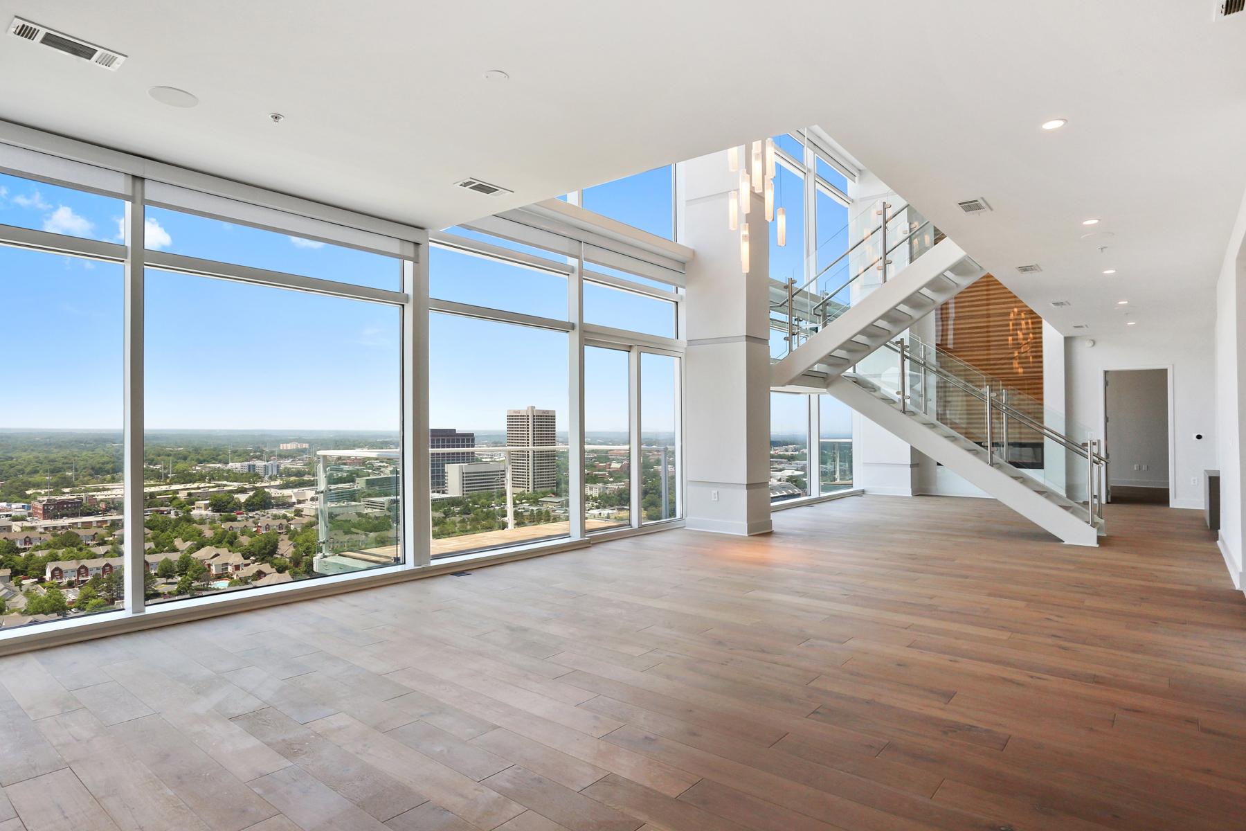 Appartement en copropriété pour l Vente à Largest New Two Story Penthouse in the Heart of Atlanta 45 Ivan Allen Jr Boulevard NW PH#2704 Atlanta, Georgia, 30308 États-Unis