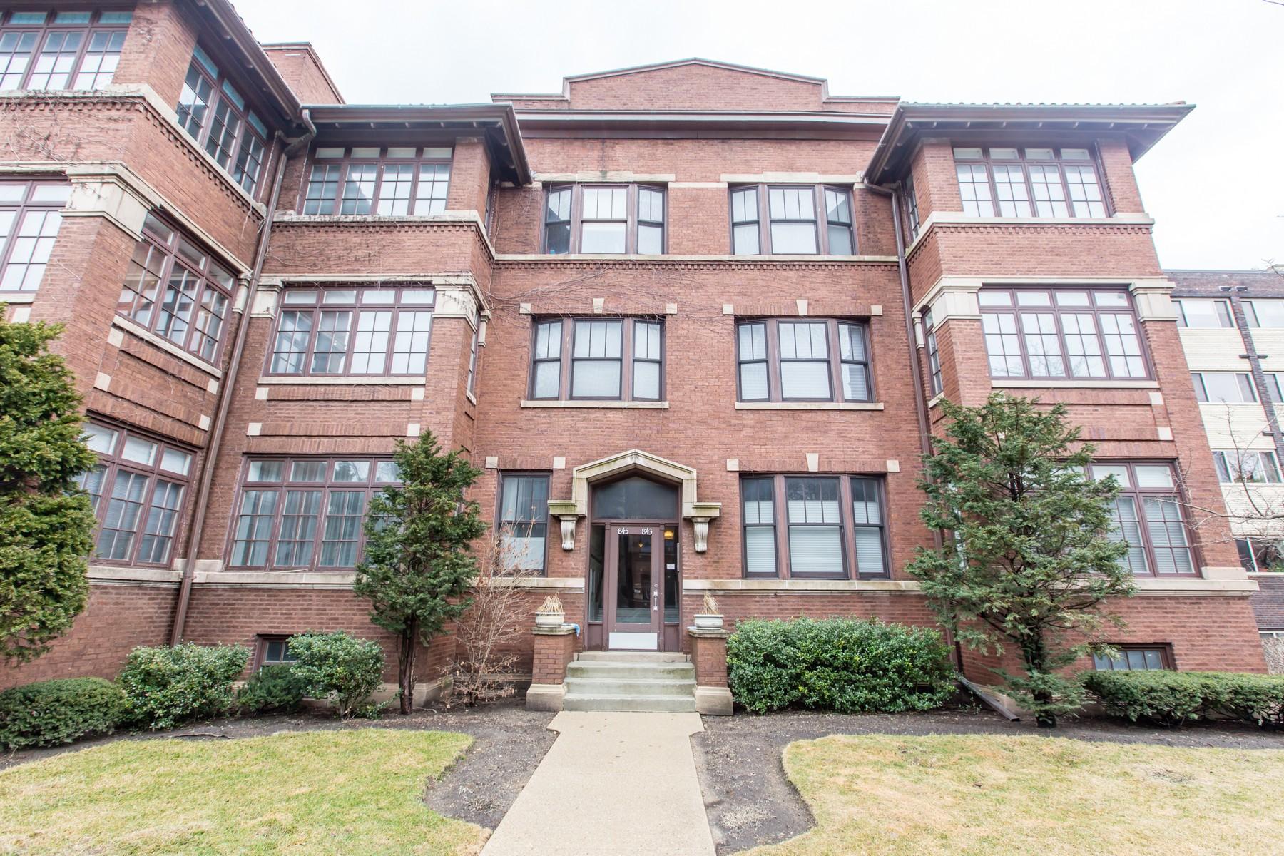 獨棟家庭住宅 為 出售 在 Gorgeous, move in ready 843 Ridge Avenue Unit 3S, Evanston, 伊利諾斯州, 60202 美國