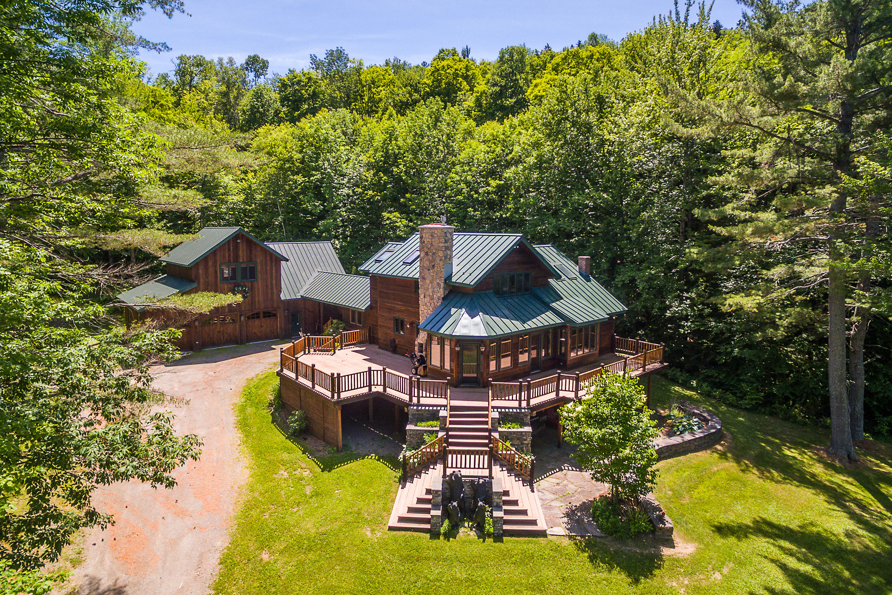 Single Family Home for Sale at Custom Built Post and Beam 3703 Popple Dungeon Rd Chester, Vermont 05143 United States