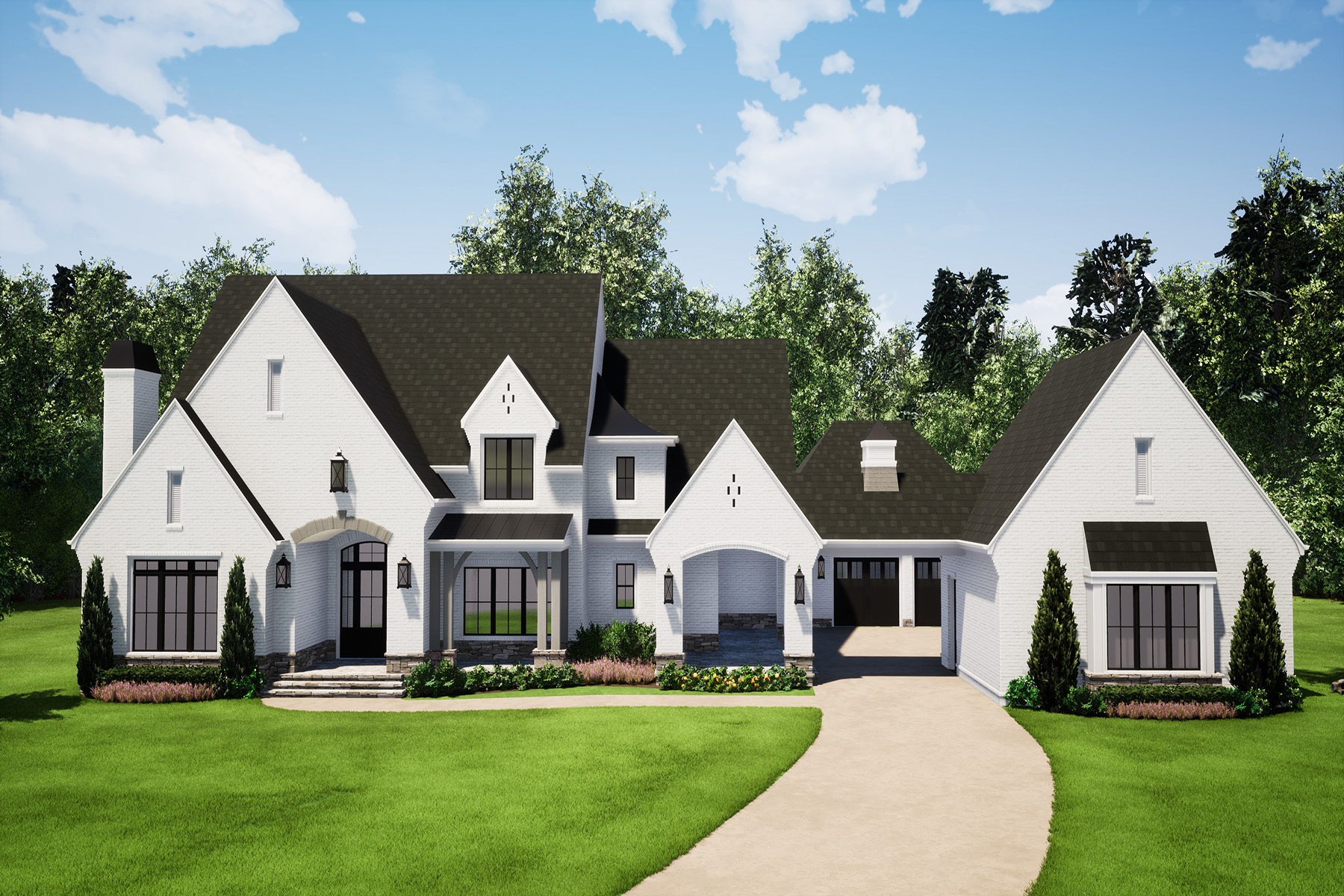 Single Family Homes for Sale at Spectacular New Construction Overlooking Double Fairway 15994 Manor Club Drive Milton, Georgia 30004 United States