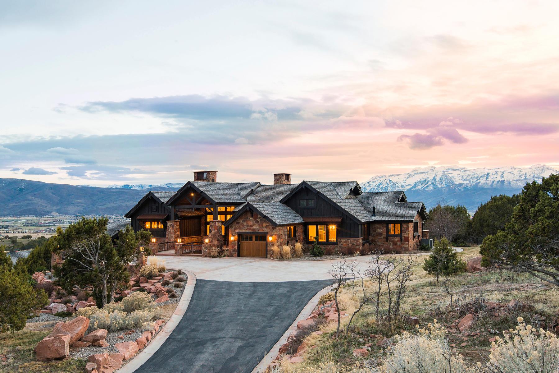 Single Family Homes för Försäljning vid Located in the Exclusive Gated Community of Red Ledges 241 N Ibapah Peak Dr, Heber City, Utah 84032 Förenta staterna