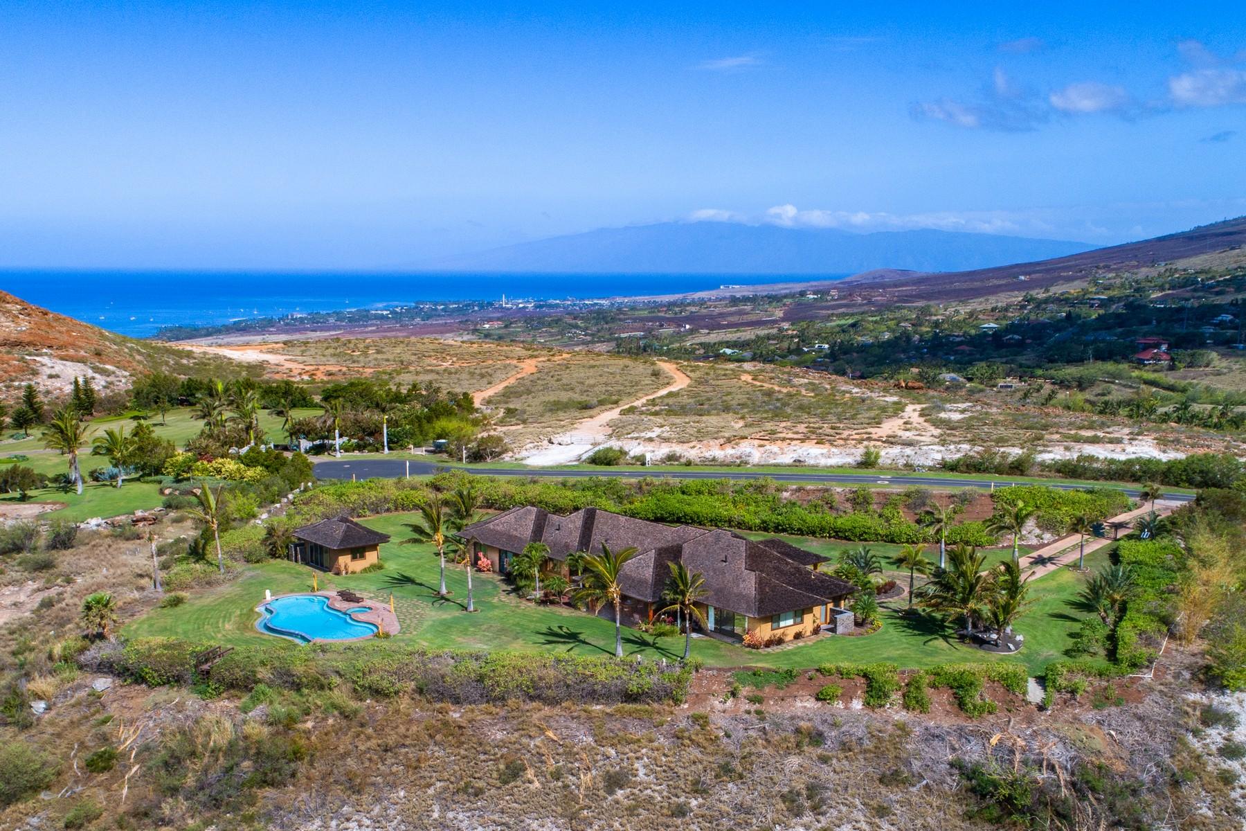 Single Family Homes 为 销售 在 Live Elevated... Commanding Mountain Top Location 411 Wailau Place Launiupoko, 夏威夷 96761 美国