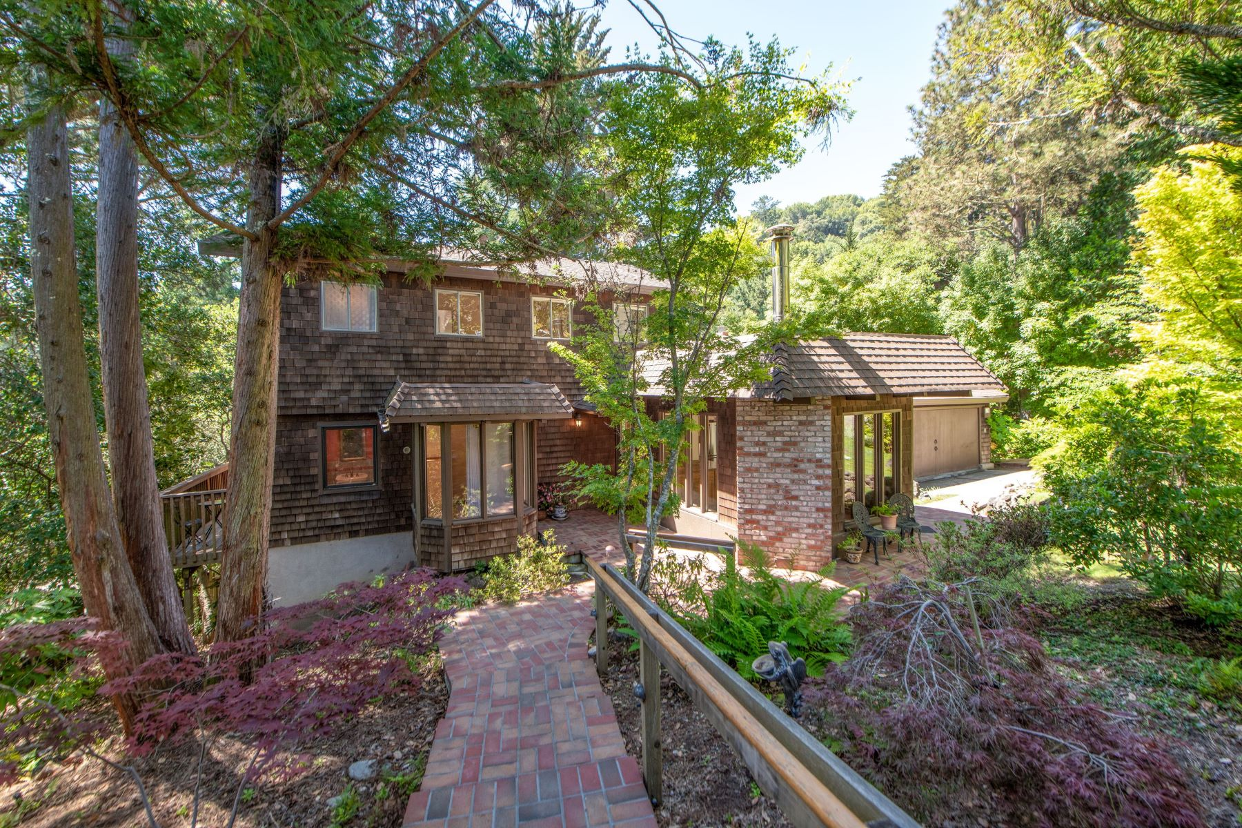 Single Family Homes for Sale at Enchanting Private Retreat 627 Laguna Road Mill Valley, California 94941 United States