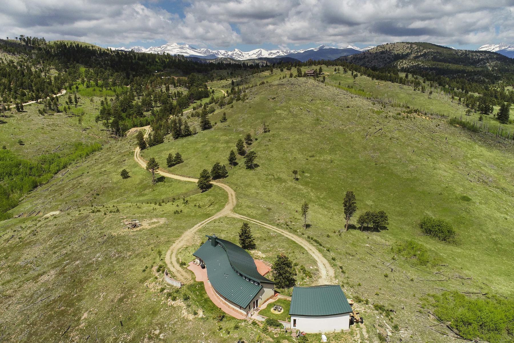 Single Family Homes for Sale at Incredible Views And Self Sustaining Design 777 County Road 87J Jamestown, Colorado 80455 United States