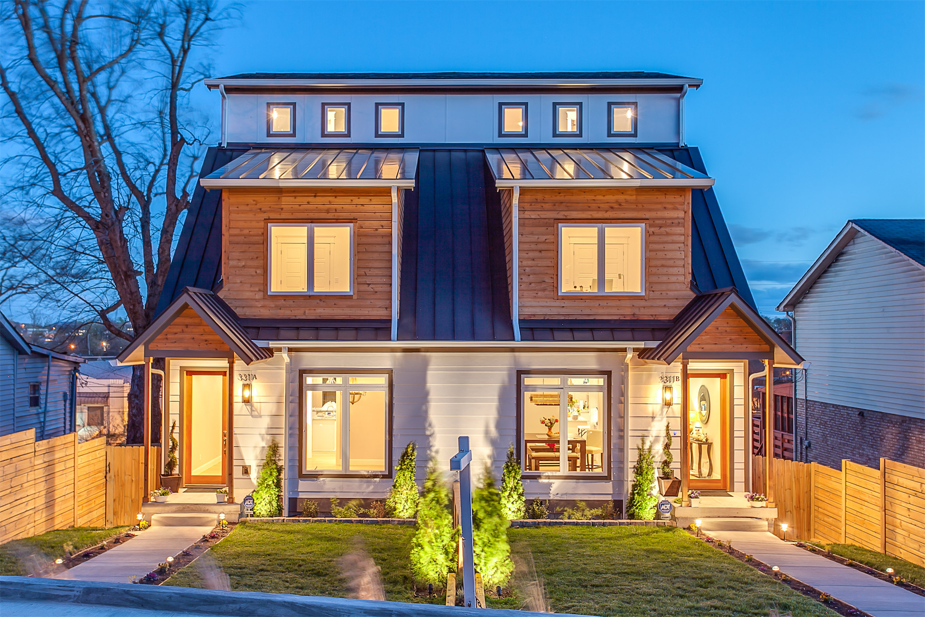 Single Family Home for Sale at Extraordinary Custom Home with Downtown Views 3311A Felicia Street Nashville, Tennessee, 37209 United States