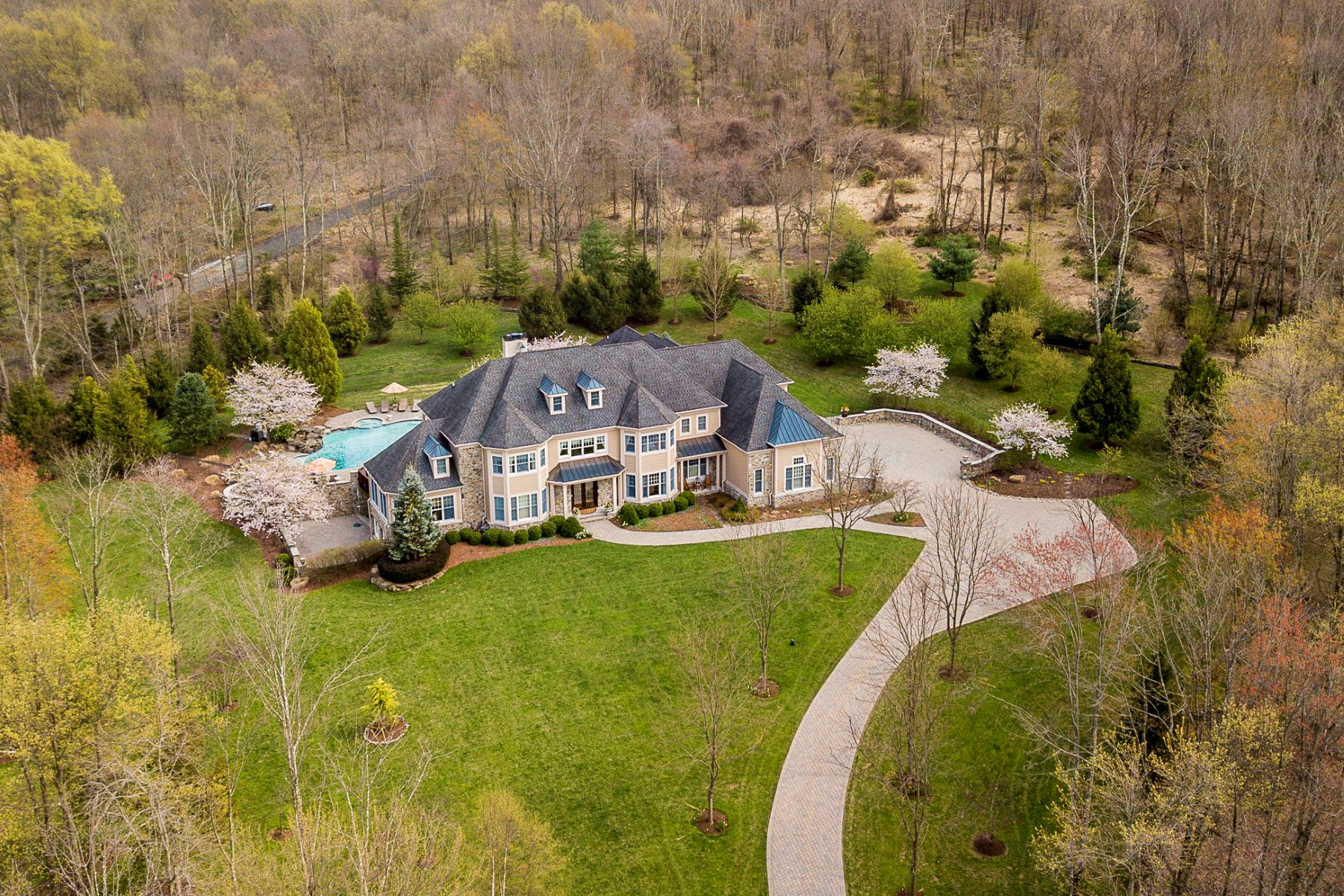 Single Family Homes for Sale at An Oasis Of Luxury Custom Built to the Highest Standards 239 Zion Road, Hillsborough, New Jersey 08844 United States