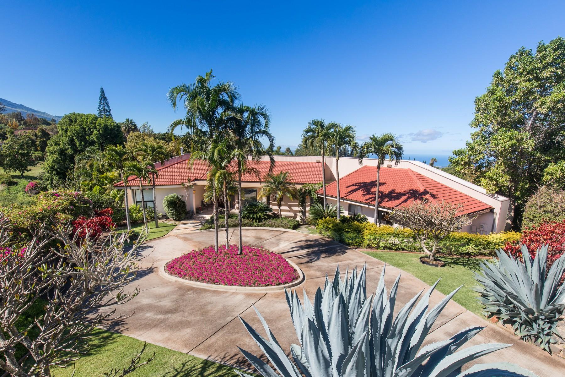 Villa per Vendita alle ore Beautiful Maui Estate, Guest House, & Pool with Ocean Views 891 Holopuni Road Kula, Hawaii, 96790 Stati Uniti