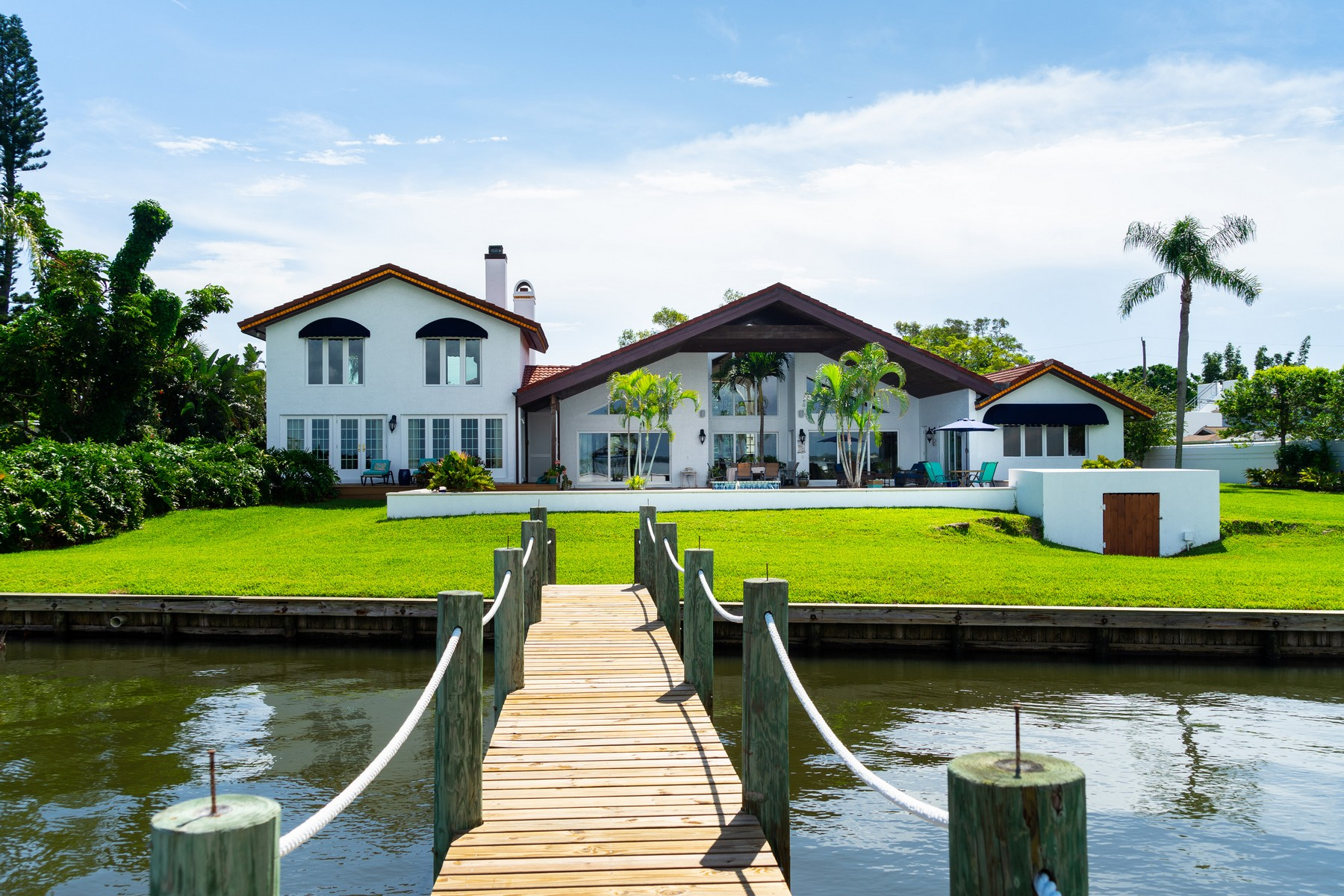 Property for Sale at Captivating Riverfront Pool Home 1508 Pine Street Melbourne Beach, Florida 32951 United States