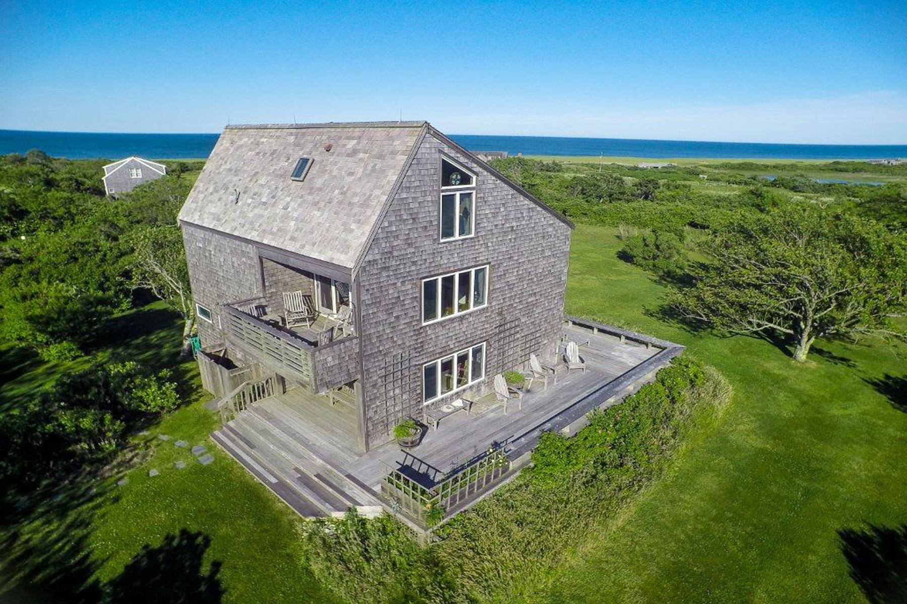 Single Family Home for Sale at Gorgeous Unobstructed Water Views! 56 Squam Road 58 Squam Road Nantucket, Massachusetts, 02554 United States