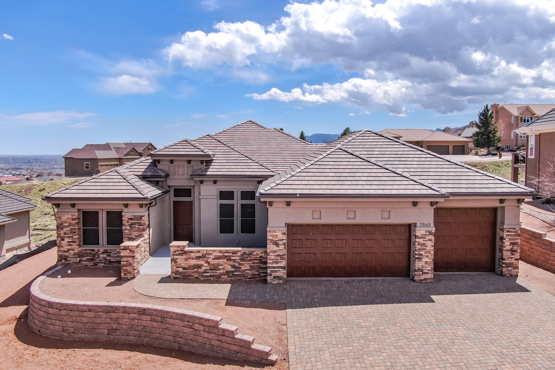 Single Family Homes for Sale at Brand New Energy-Efficient Construction. 2565 Brogans Bluff Drive Colorado Springs, Colorado 80919 United States