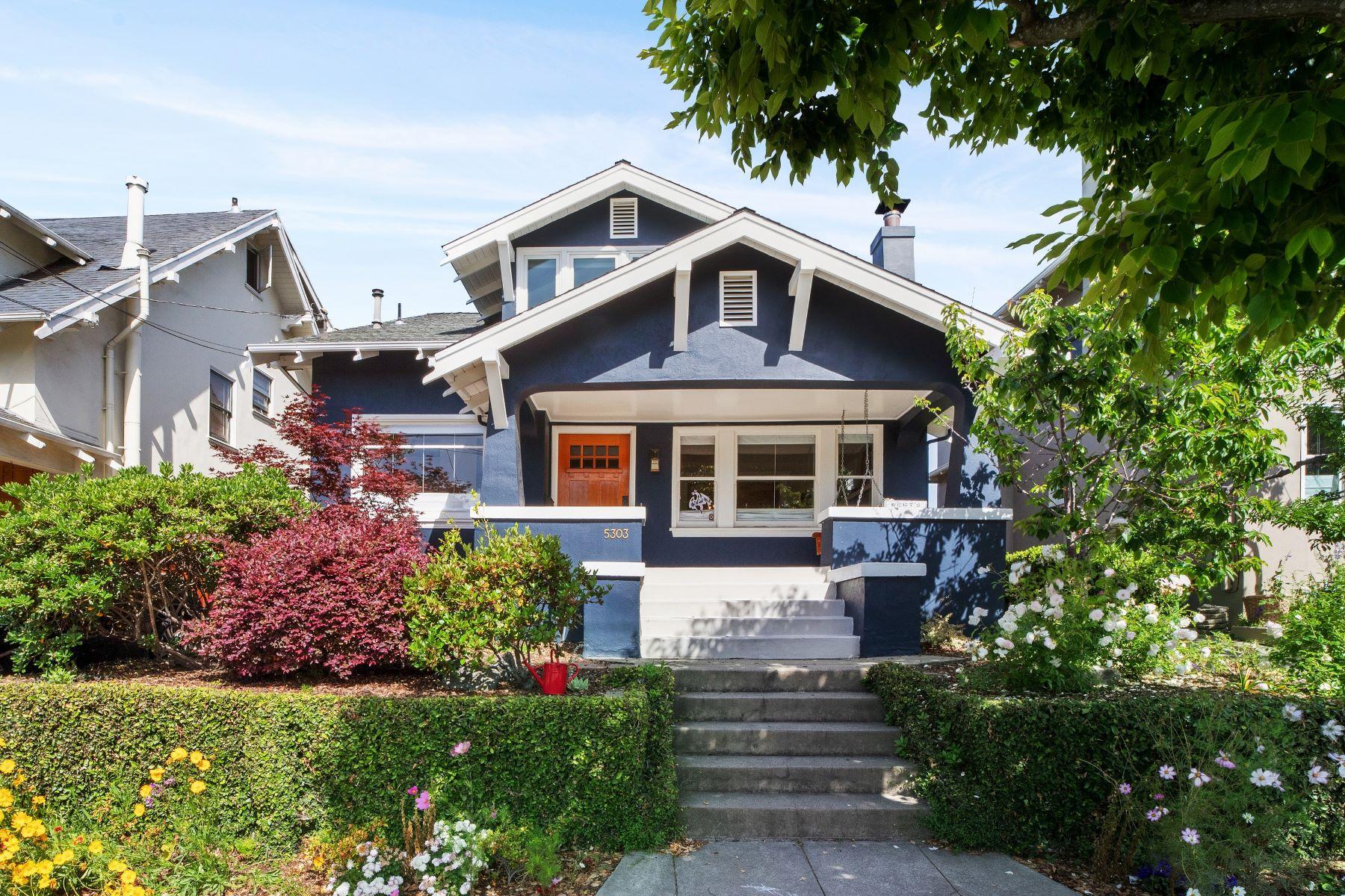 Single Family Homes for Active at Craftman In Rockridge 5303 Lawton Avenue Oakland, California 94618 United States