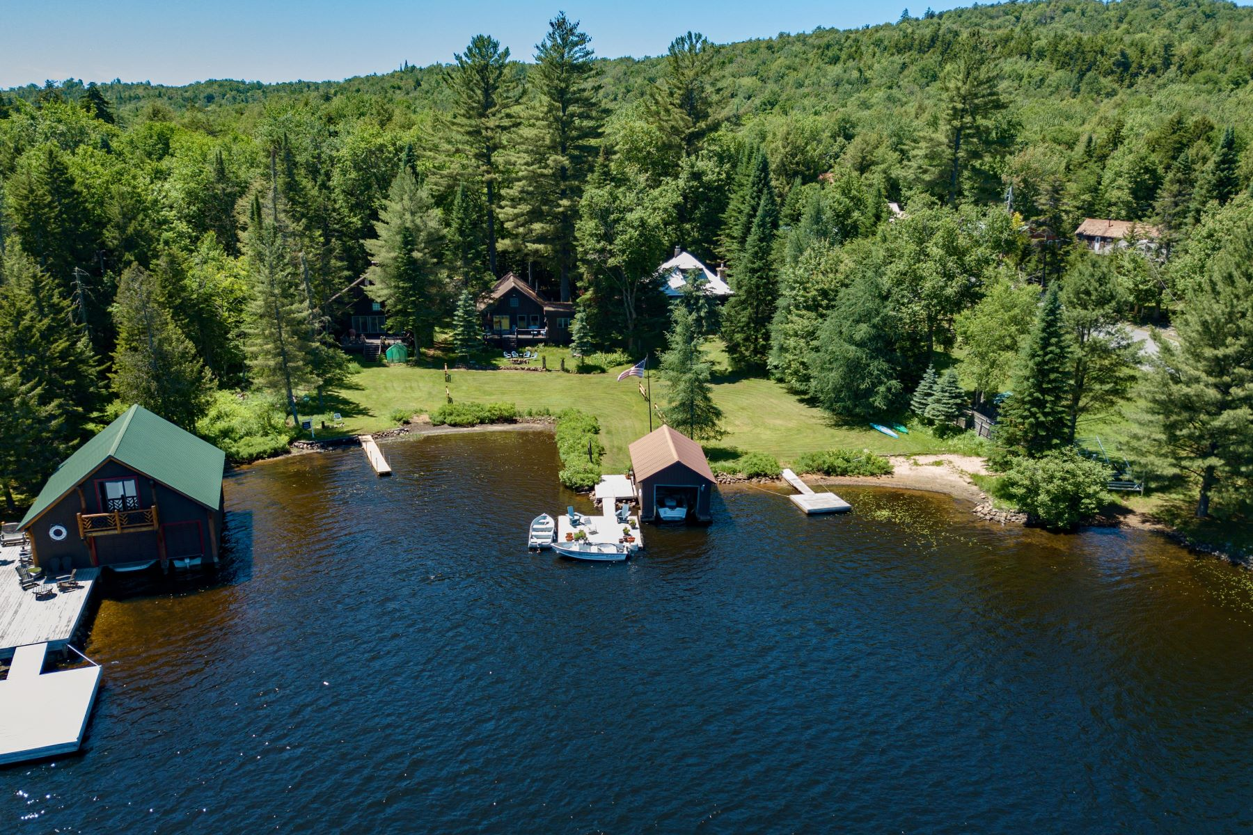 Single Family Homes for Sale at Big Moose 3 Bedroom Waterfront Cottage 142 Glenmore Road Big Moose, New York 13331 United States
