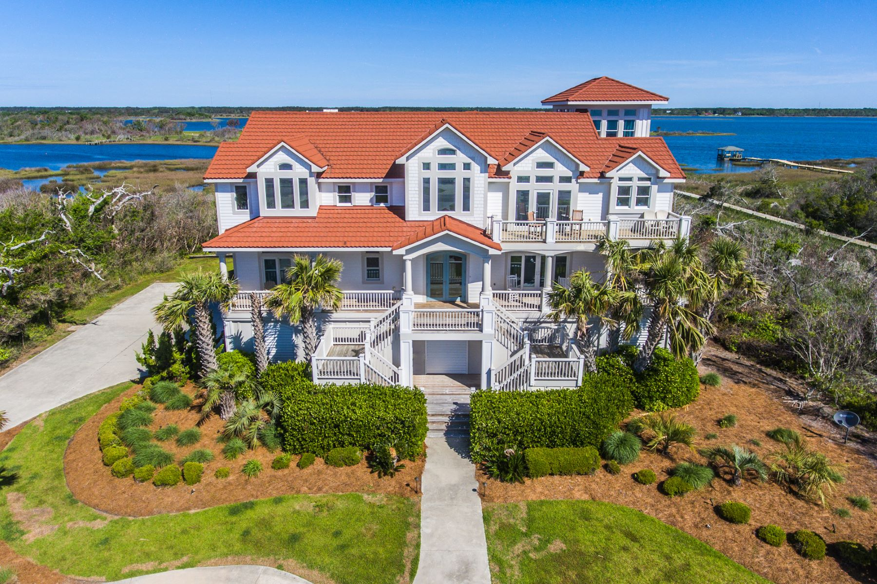 Single Family Homes for Active at Luxurious Sound Front Gem 557 New River Inlet Road N Topsail Beach, North Carolina 28460 United States