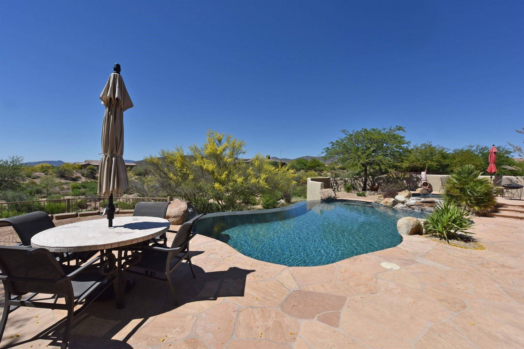 Single Family Home for Sale at Private retreat home in the gated community of Cresta Norte 10130 E Winter Sun Drive Scottsdale, Arizona, 85262 United States