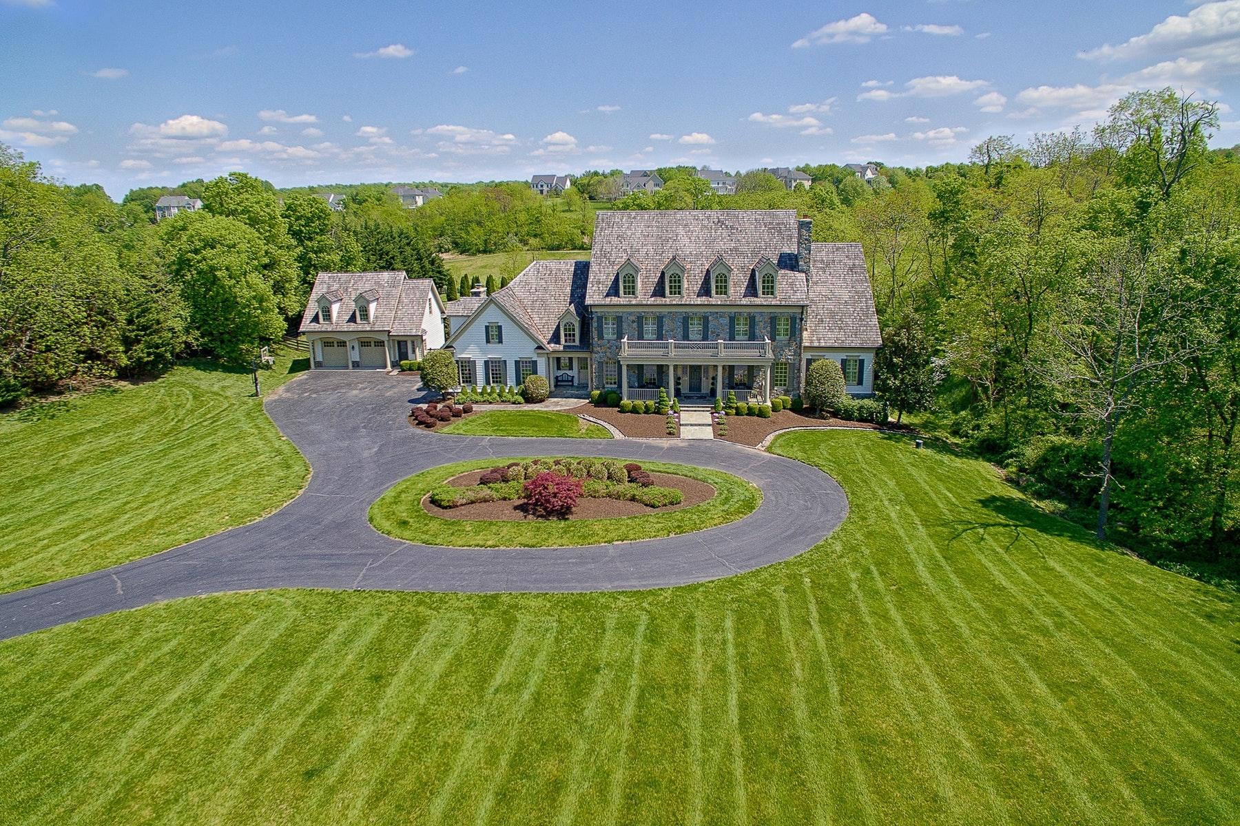 Частный односемейный дом для того Продажа на Stunning Custom Estate 17094 Silver Charm Place Leesburg, Виргиния 20176 Соединенные Штаты